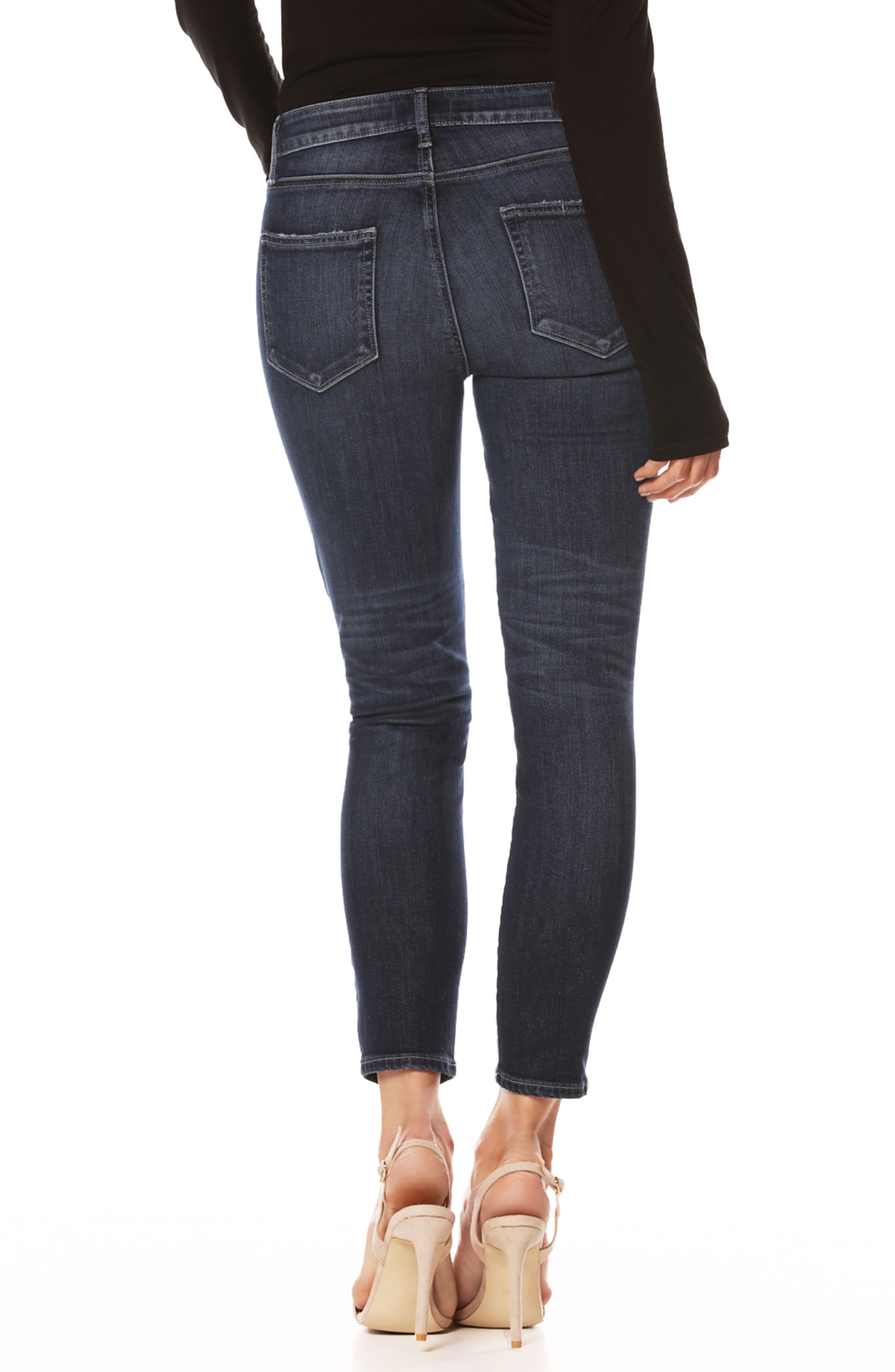 Transcend Vintage - Hoxton High Waist Crop Ultra Skinny Jeans,                             Alternate thumbnail 2, color,                             400