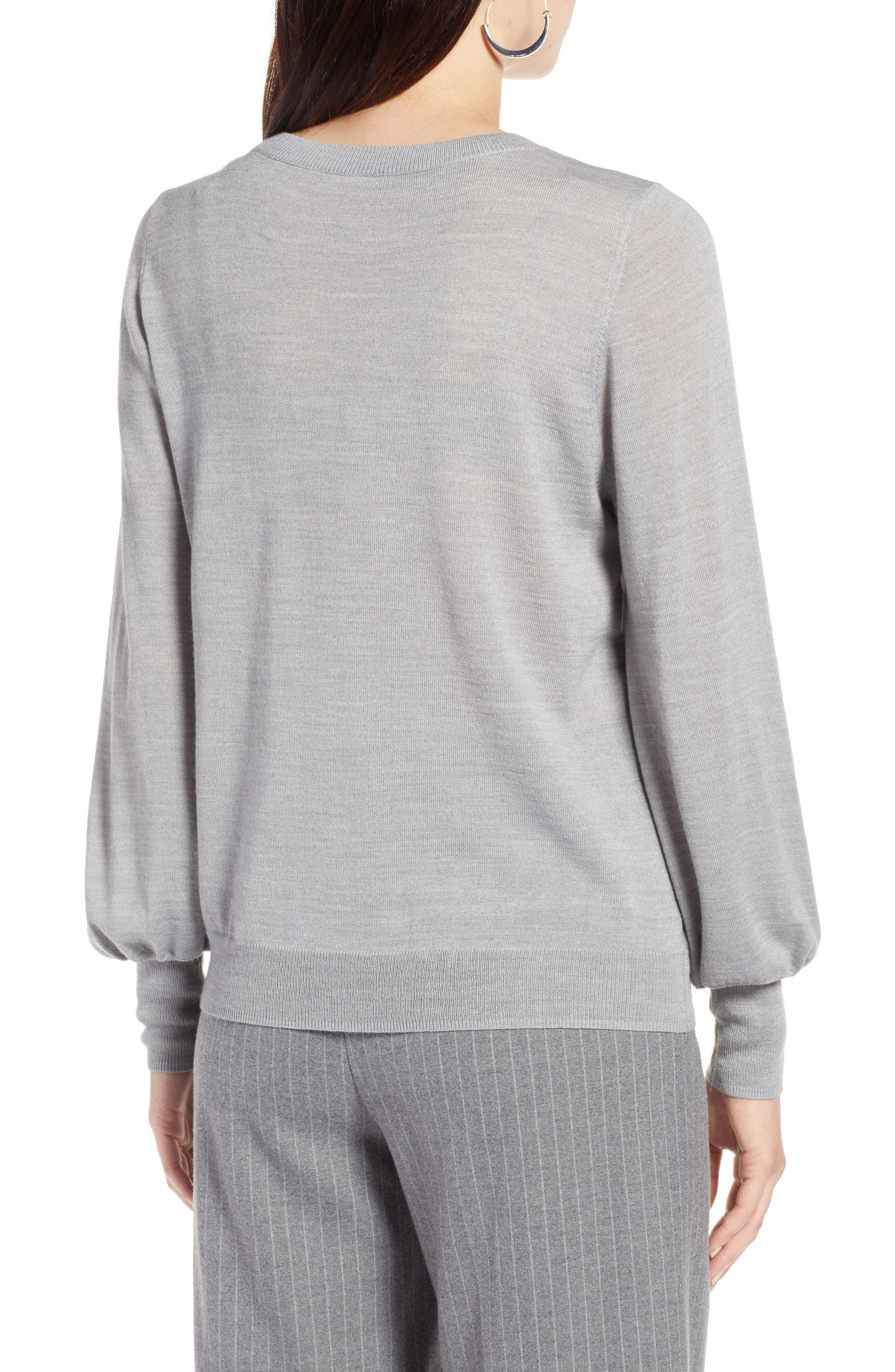 Puff Sleeve Sweater,                             Alternate thumbnail 13, color,