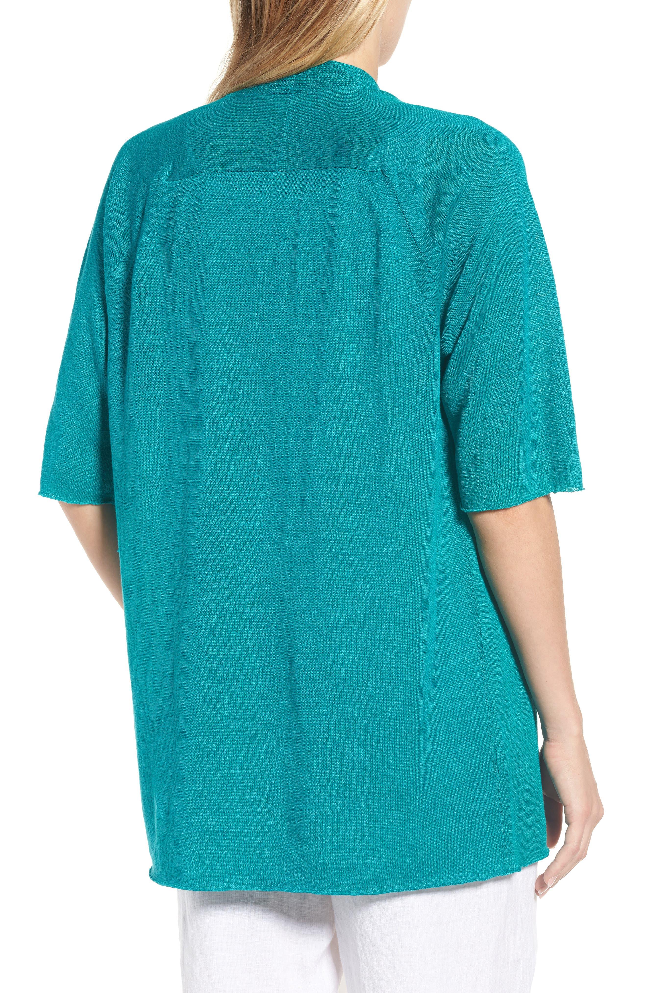 Organic Linen Cardigan,                             Alternate thumbnail 9, color,