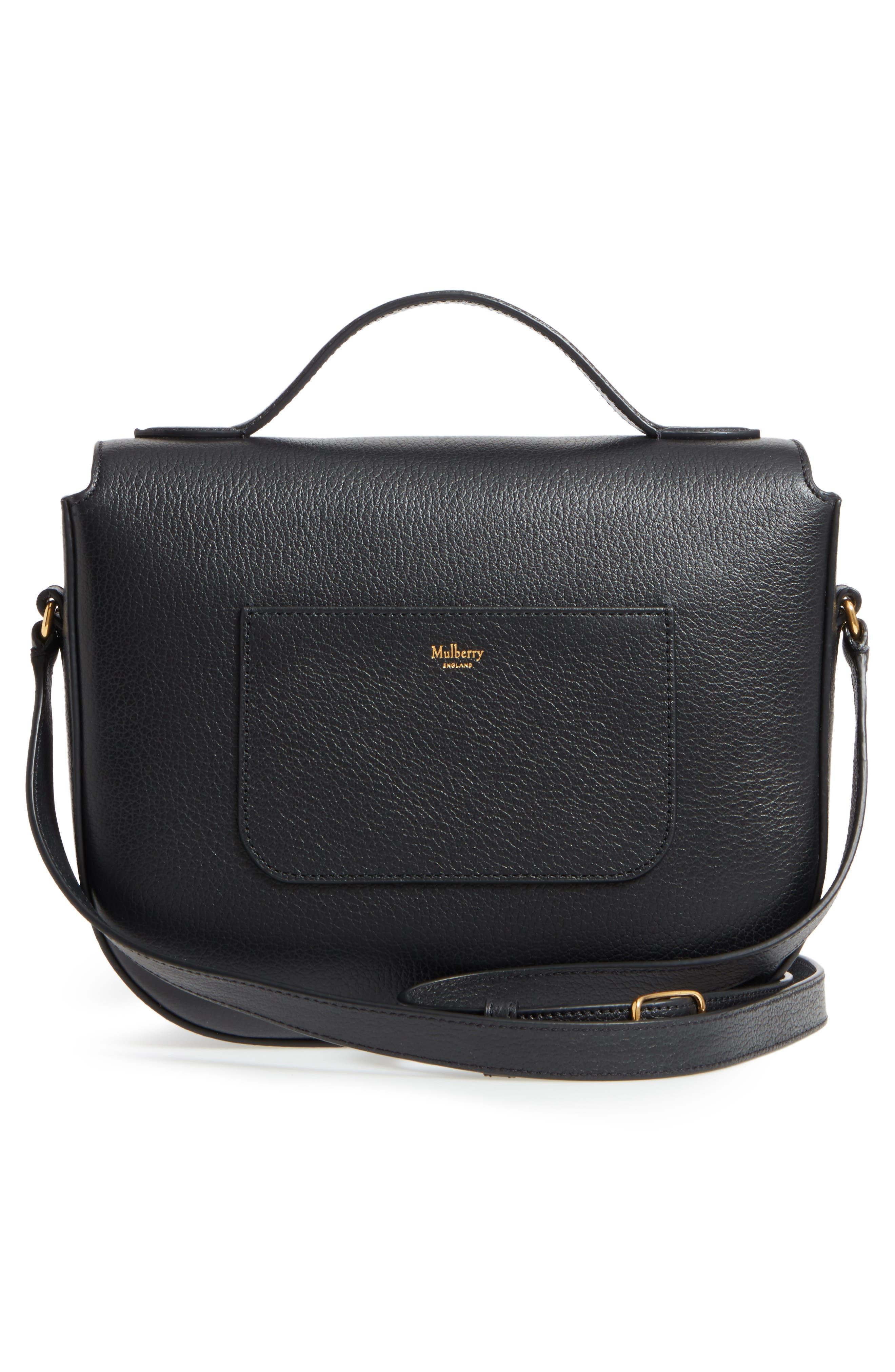 Tenby Calfskin Leather Crossbody Bag,                             Alternate thumbnail 3, color,                             001