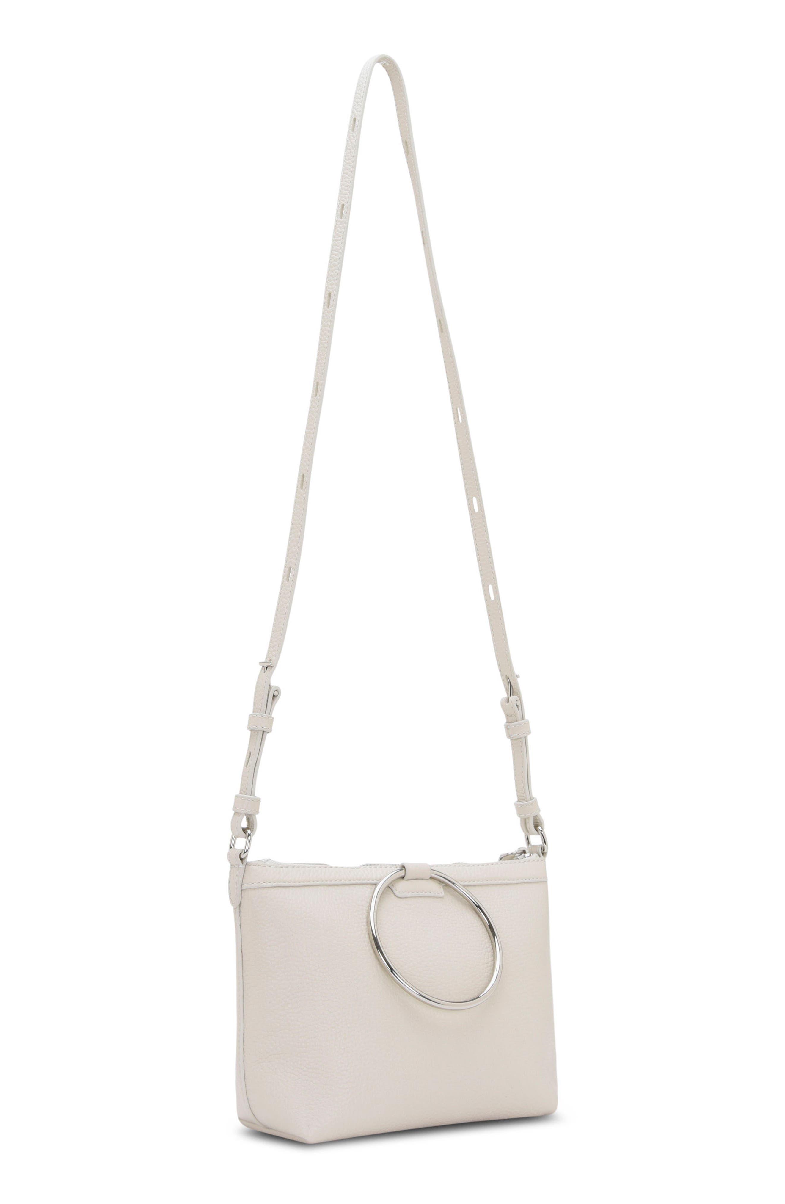 Pebbled Leather Ring Crossbody Bag,                             Alternate thumbnail 2, color,                             020