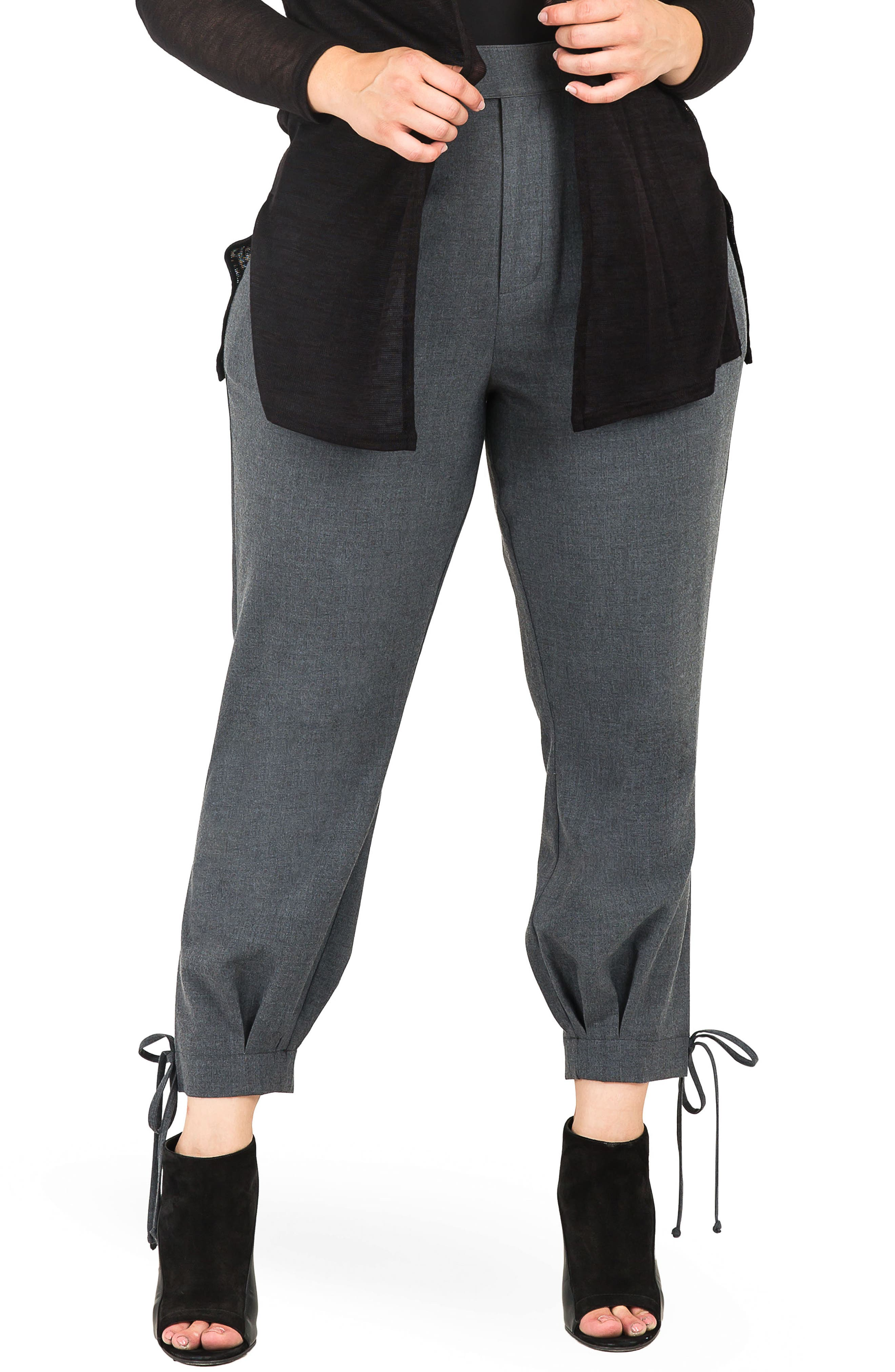Robie Suiting Skinny Trousers,                             Main thumbnail 1, color,                             CHARCOAL