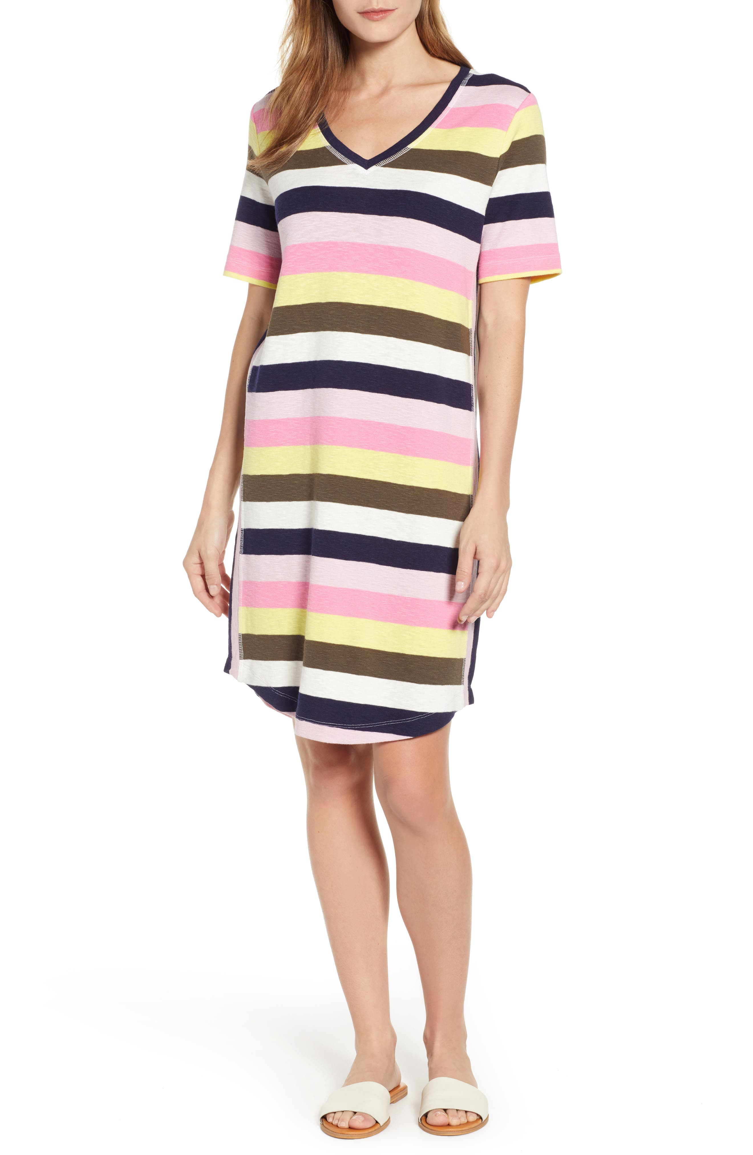 Petite Caslon Slub Knit Dress, Pink