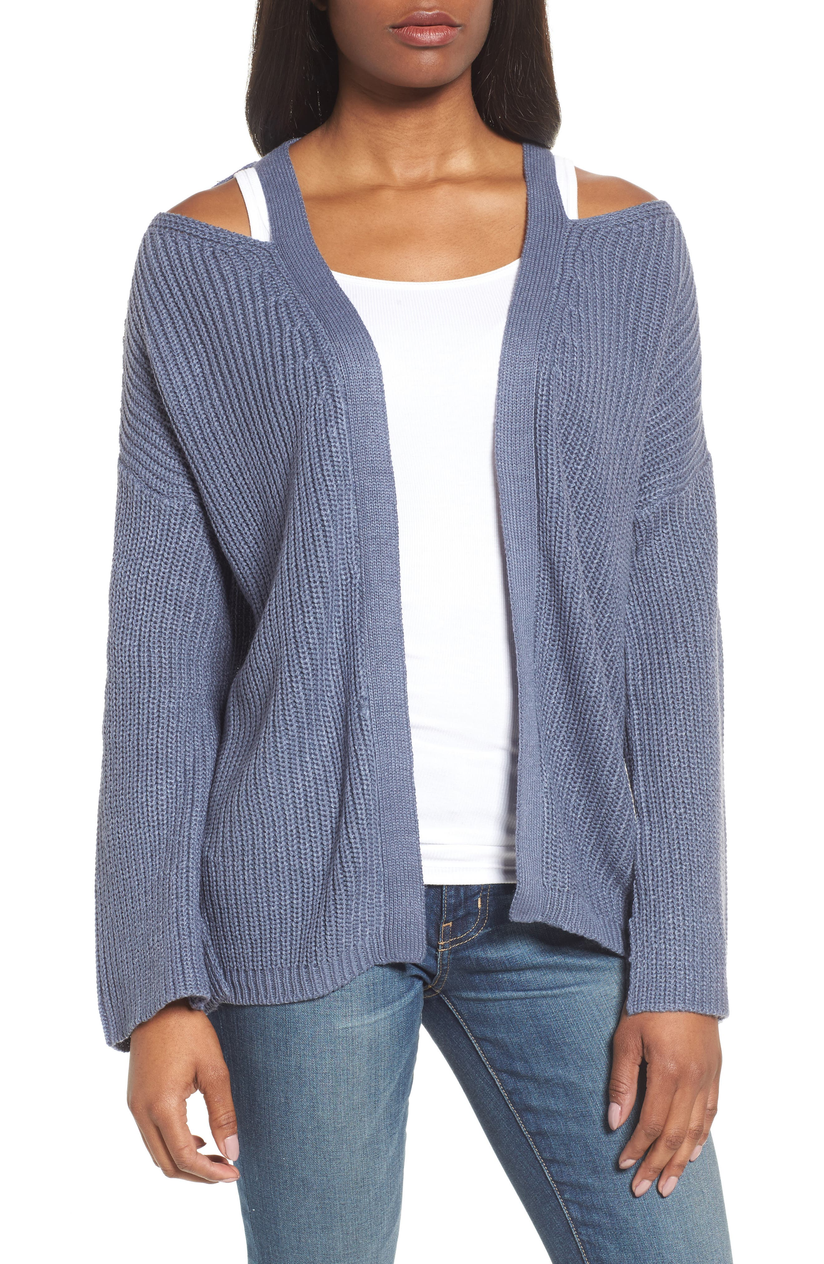Cutout Cardigan,                             Main thumbnail 2, color,