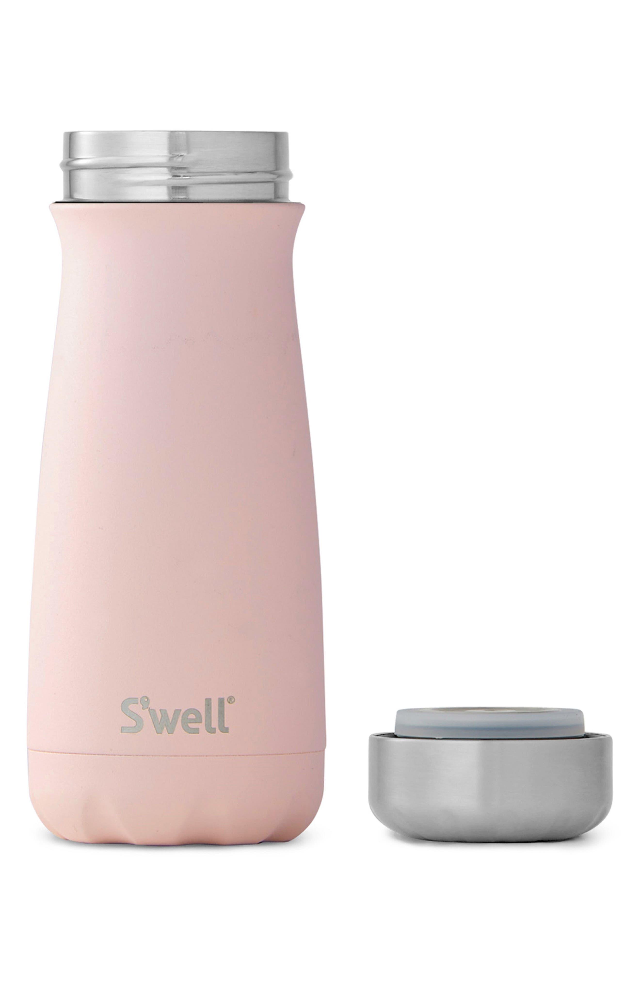 Swell Pink Topaz 16-Ounce Insulated Traveler Bottle,                             Alternate thumbnail 2, color,                             PINK TOPAZ