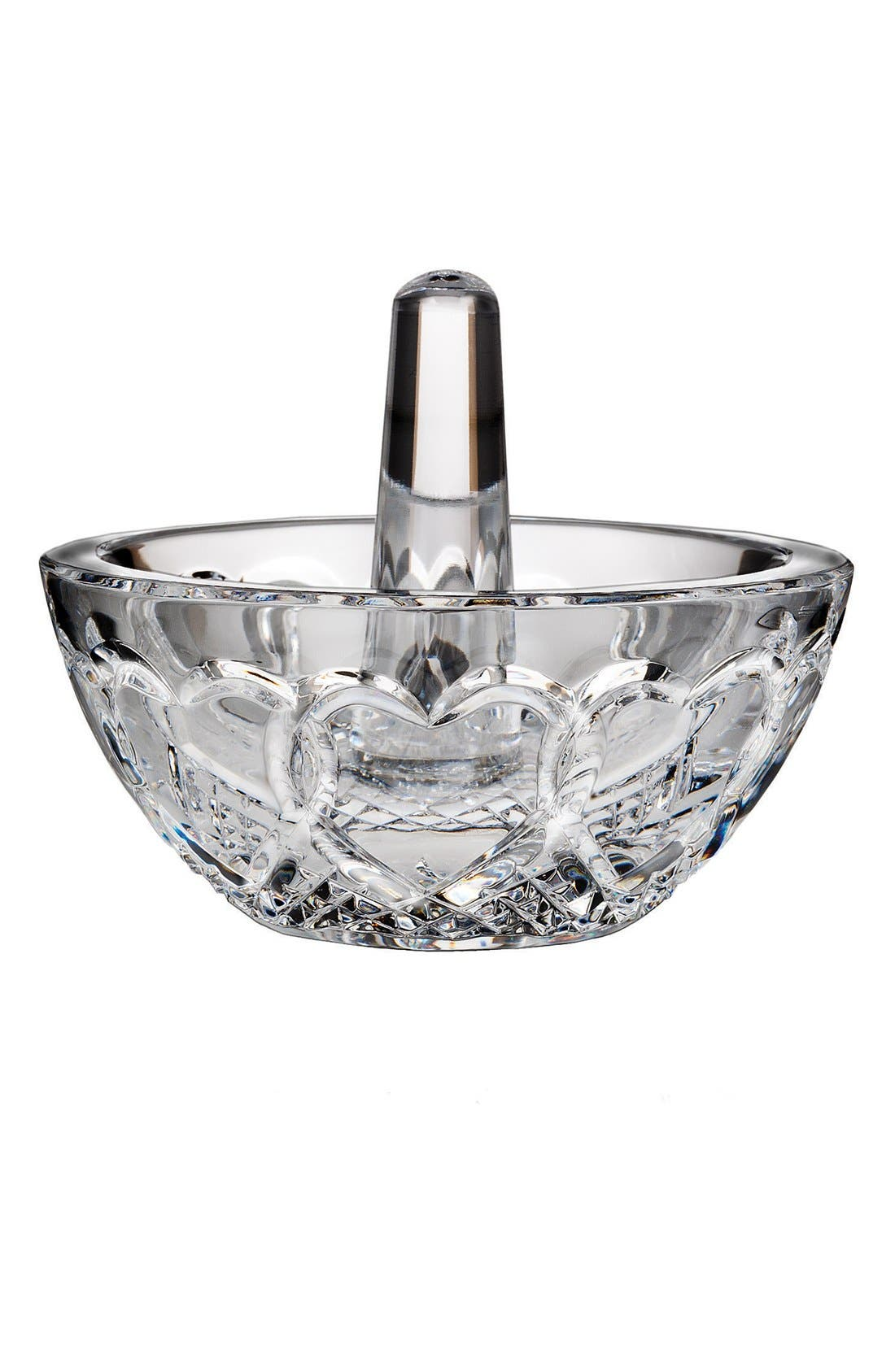 'Wedding' Lead Crystal Ring Holder,                             Main thumbnail 1, color,                             CLEAR