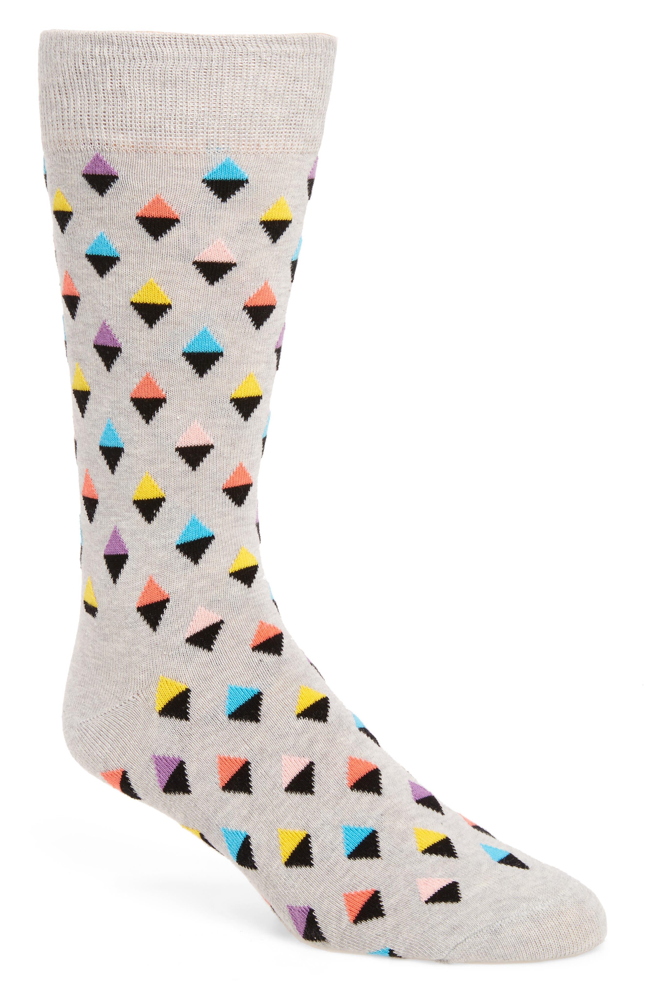 Mini Diamond Cotton Blend Socks,                             Main thumbnail 2, color,