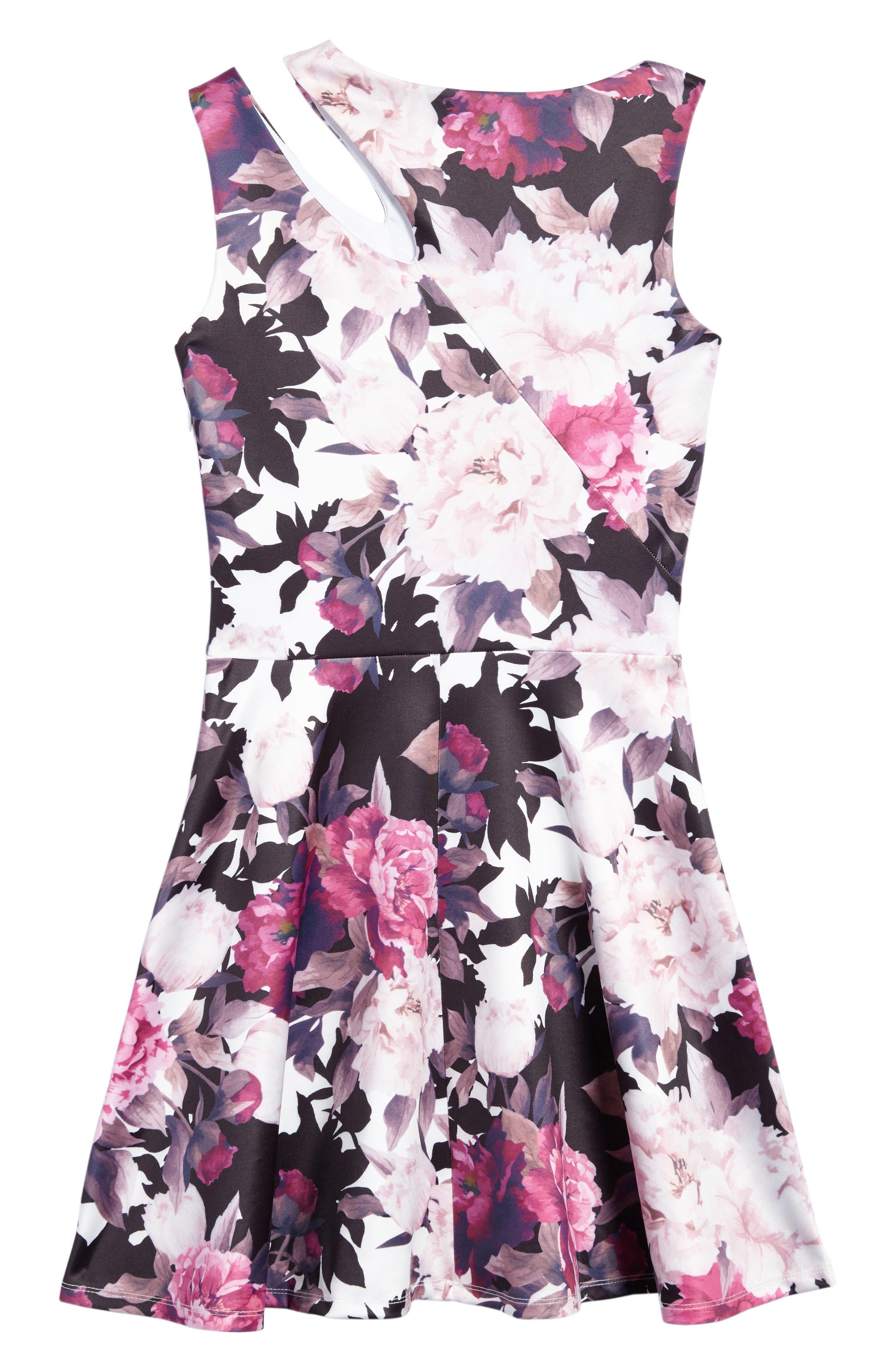 Floral Print Dress,                             Alternate thumbnail 2, color,                             101