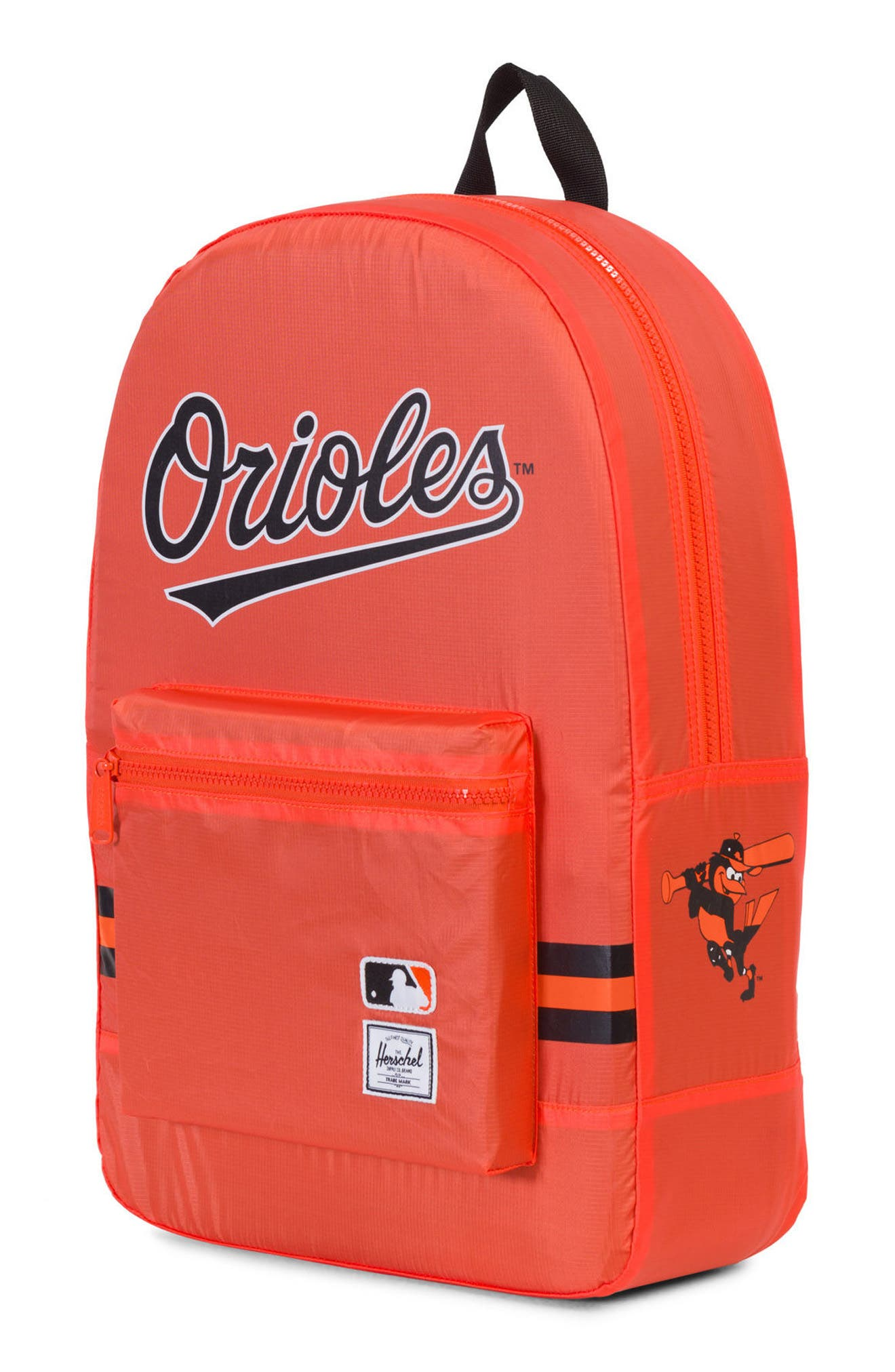 Packable - MLB American League Backpack,                             Alternate thumbnail 3, color,                             BALTIMORE ORIOLES