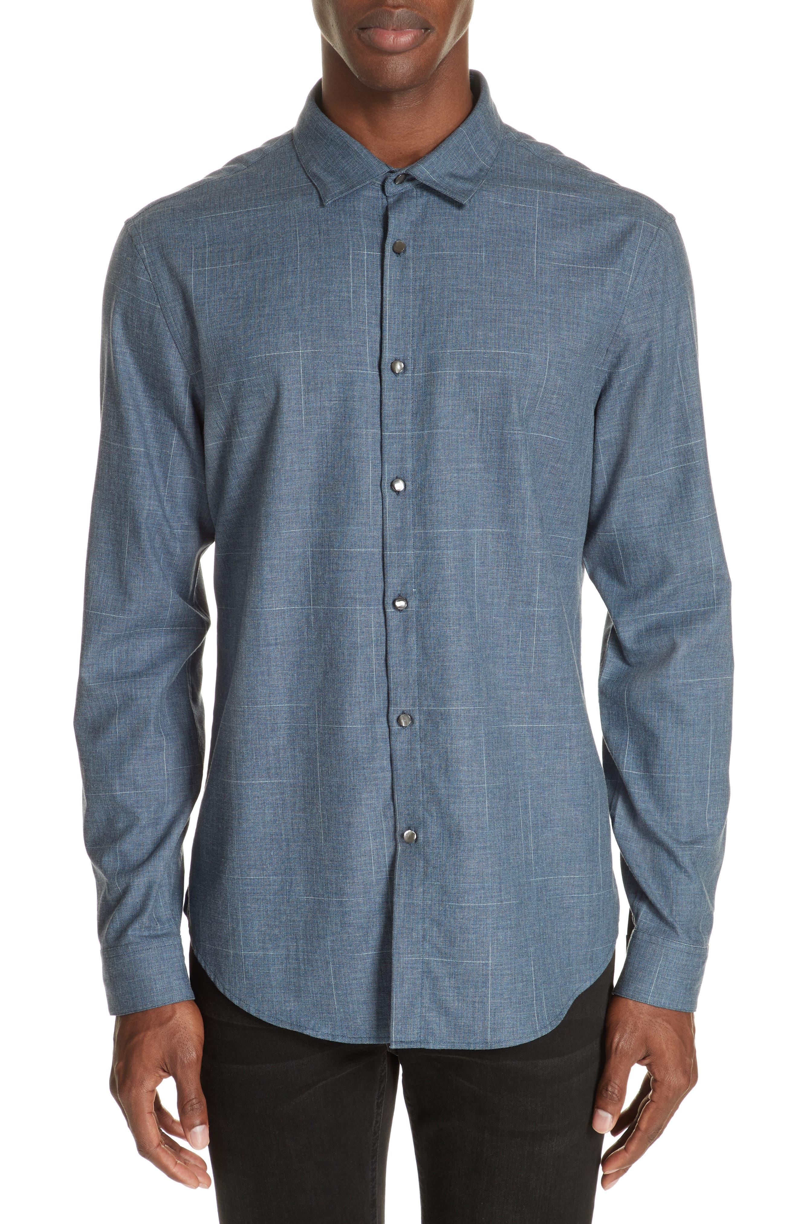 Abstract Windowpane Sport Shirt,                         Main,                         color, 416