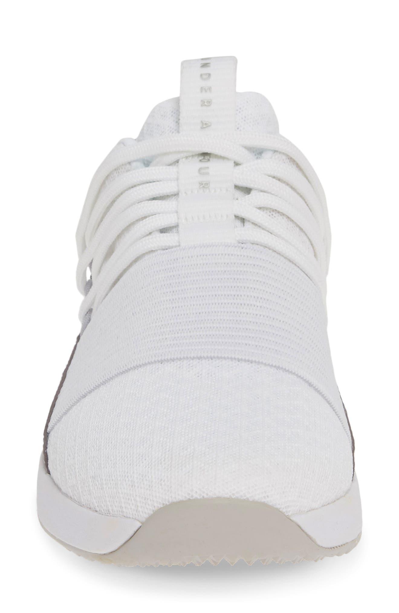UNDER ARMOUR,                             Breathe Lace X NM Sneaker,                             Alternate thumbnail 4, color,                             WHITE/ WHITE/ METALLIC BLUSH