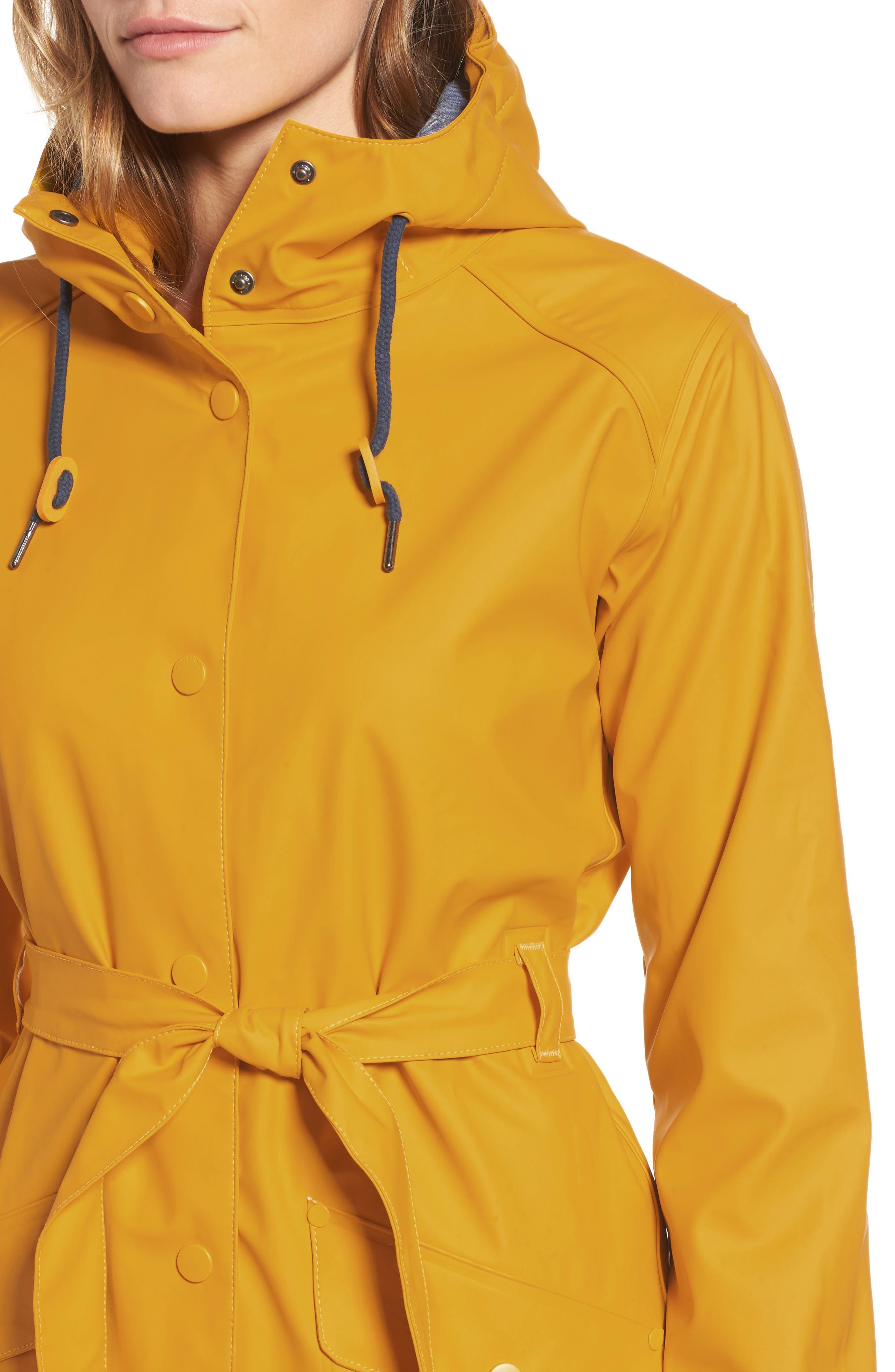 Kirkwall Raincoat,                             Alternate thumbnail 4, color,                             ESSENTIAL YELLOW