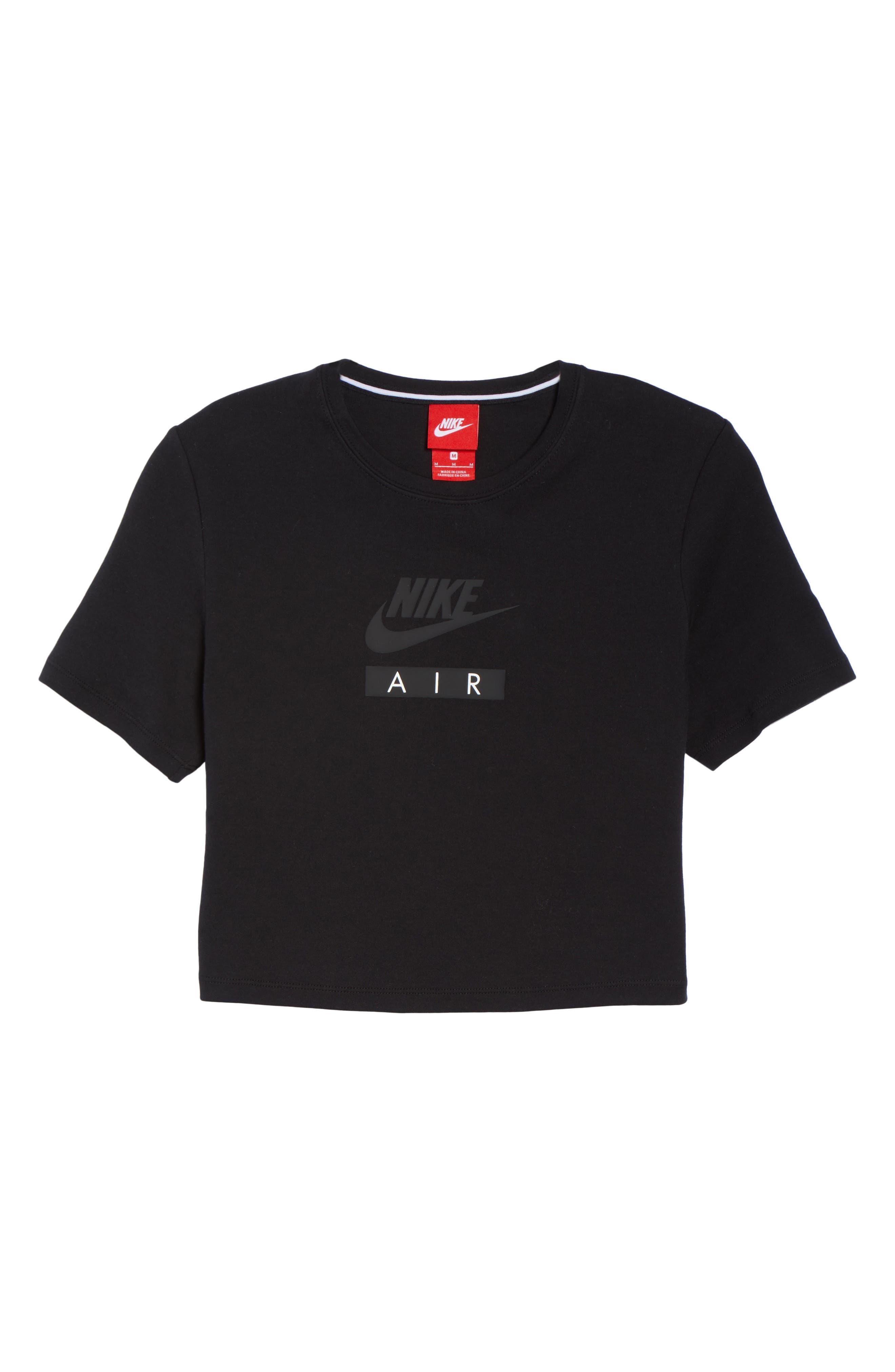 Sportswear Baby Air Crop Tee,                             Alternate thumbnail 7, color,                             010