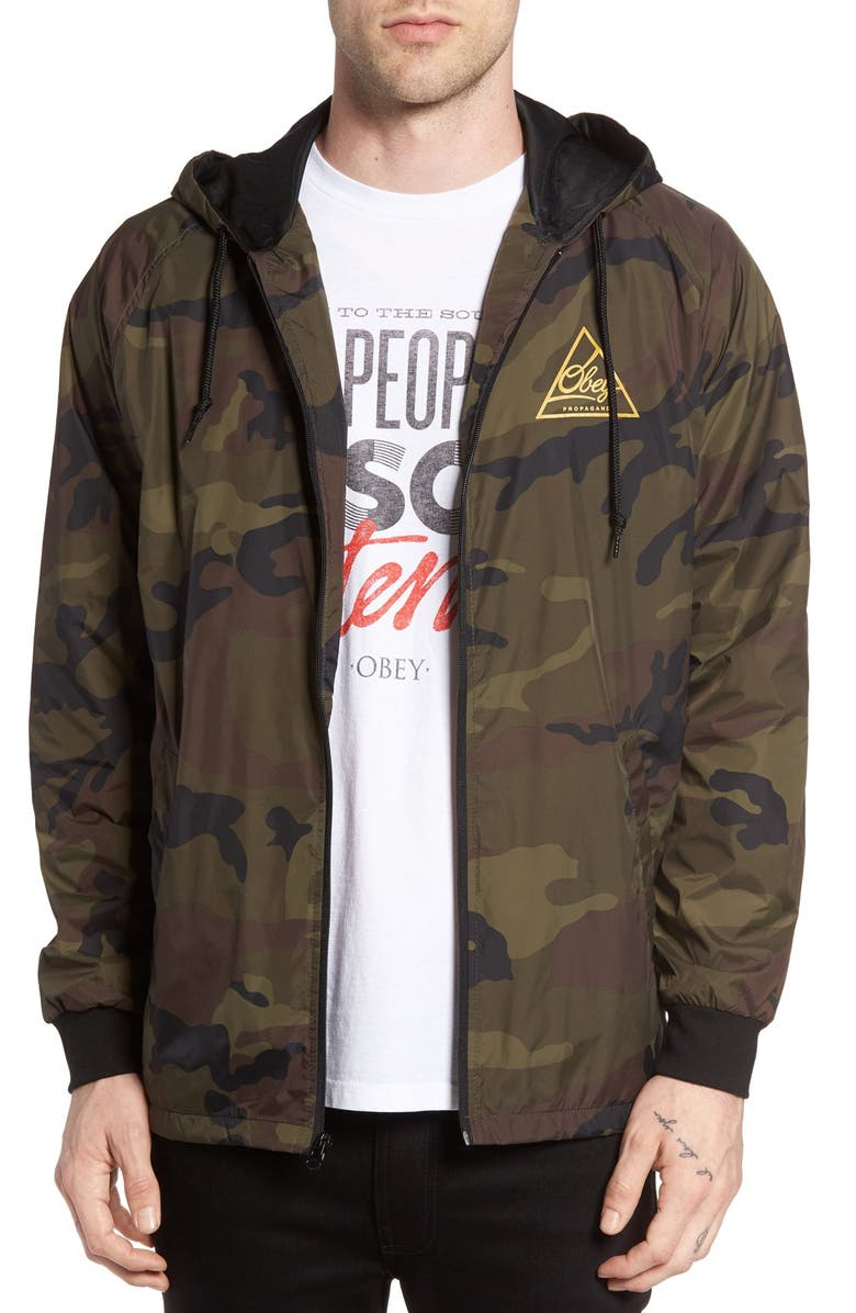 Obey Next Round 2 Hooded Coach Jacket Nordstrom