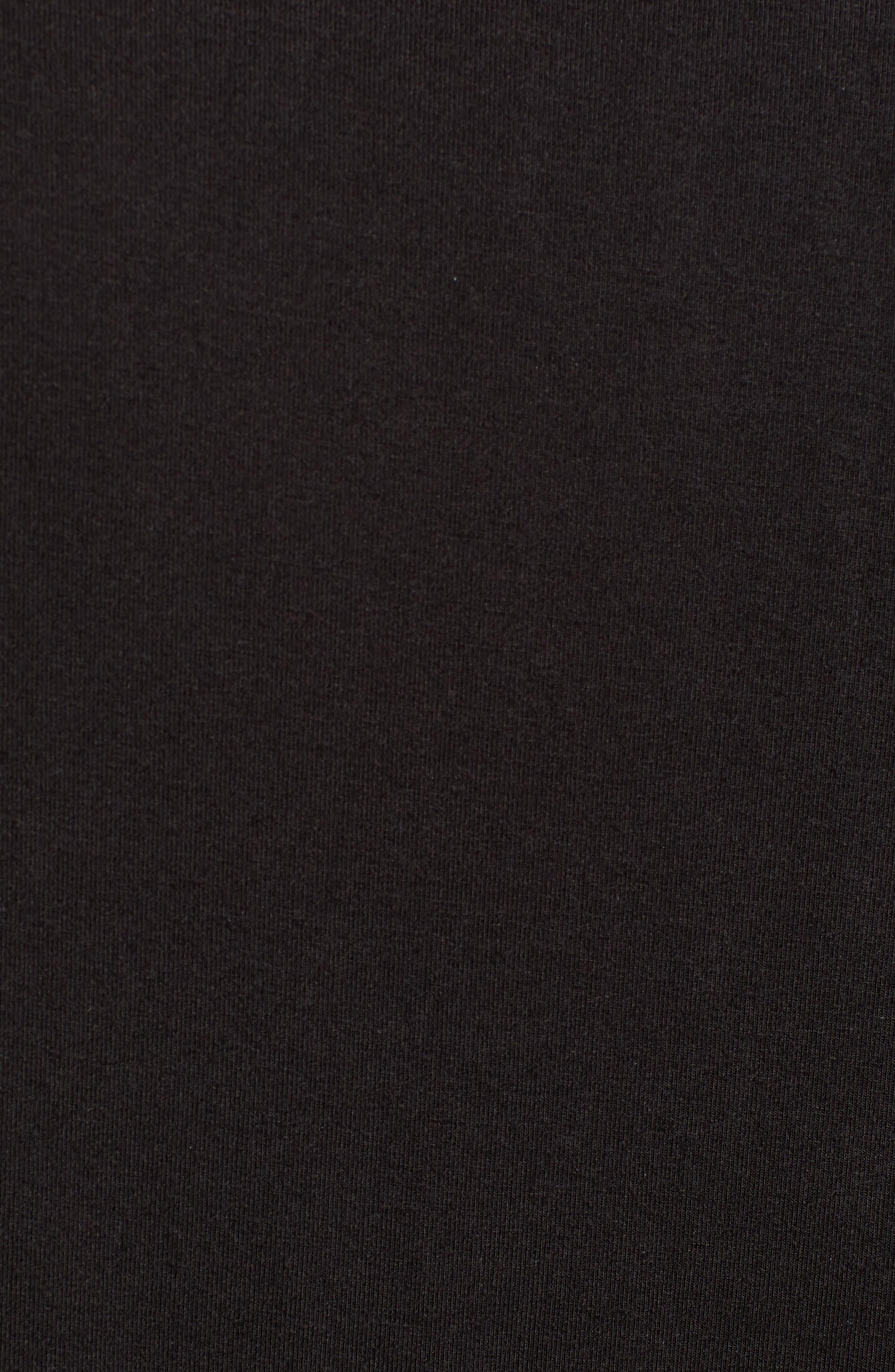 V-Neck Modal T-Shirt,                             Alternate thumbnail 5, color,                             BLACK