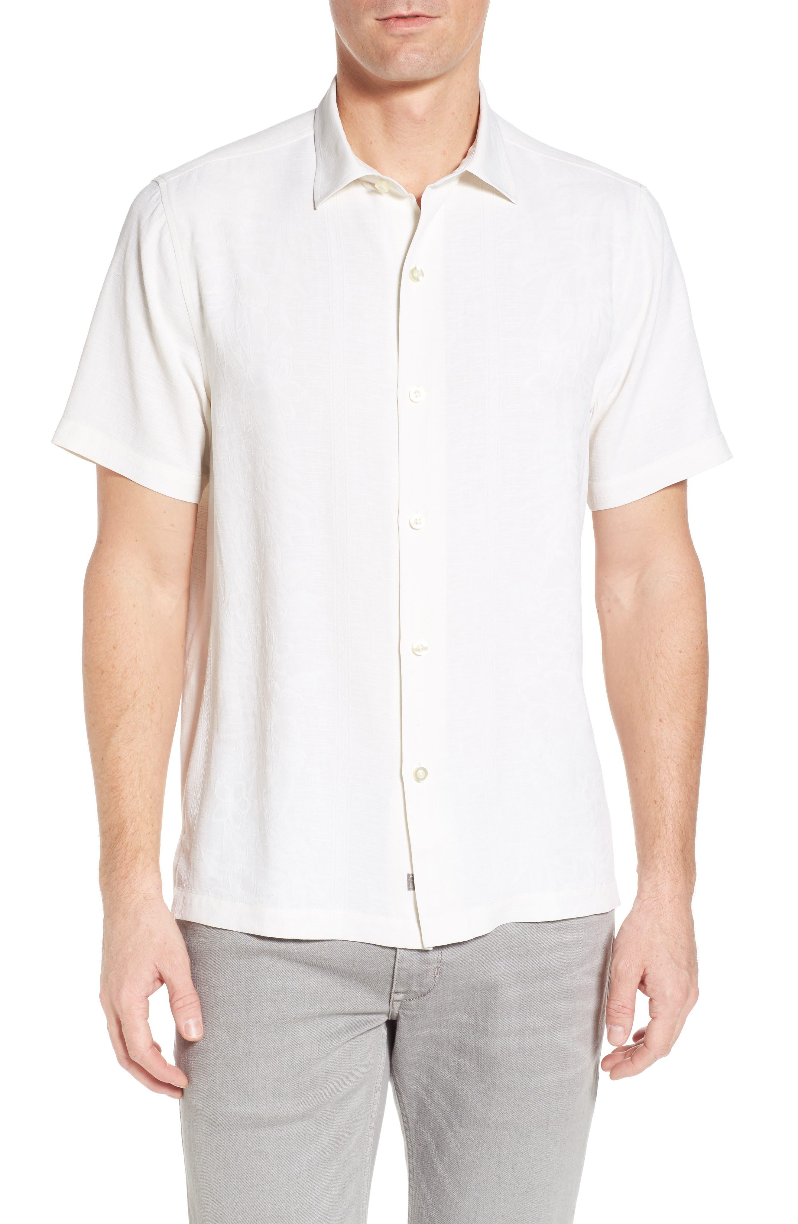 Hawaiian Wedding Silk Shirt,                         Main,                         color, 100