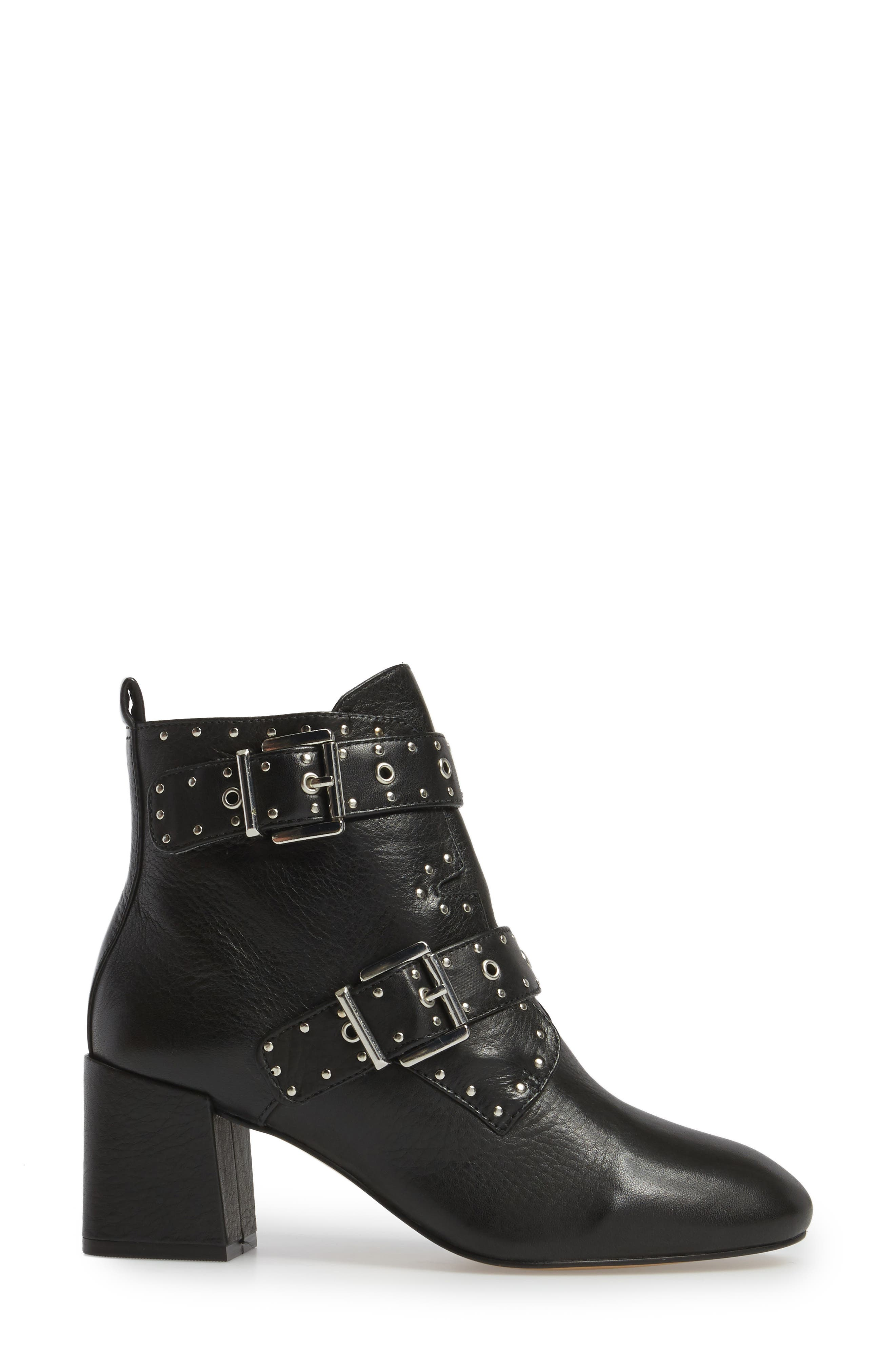 Logan Studded Bootie,                             Alternate thumbnail 3, color,                             001