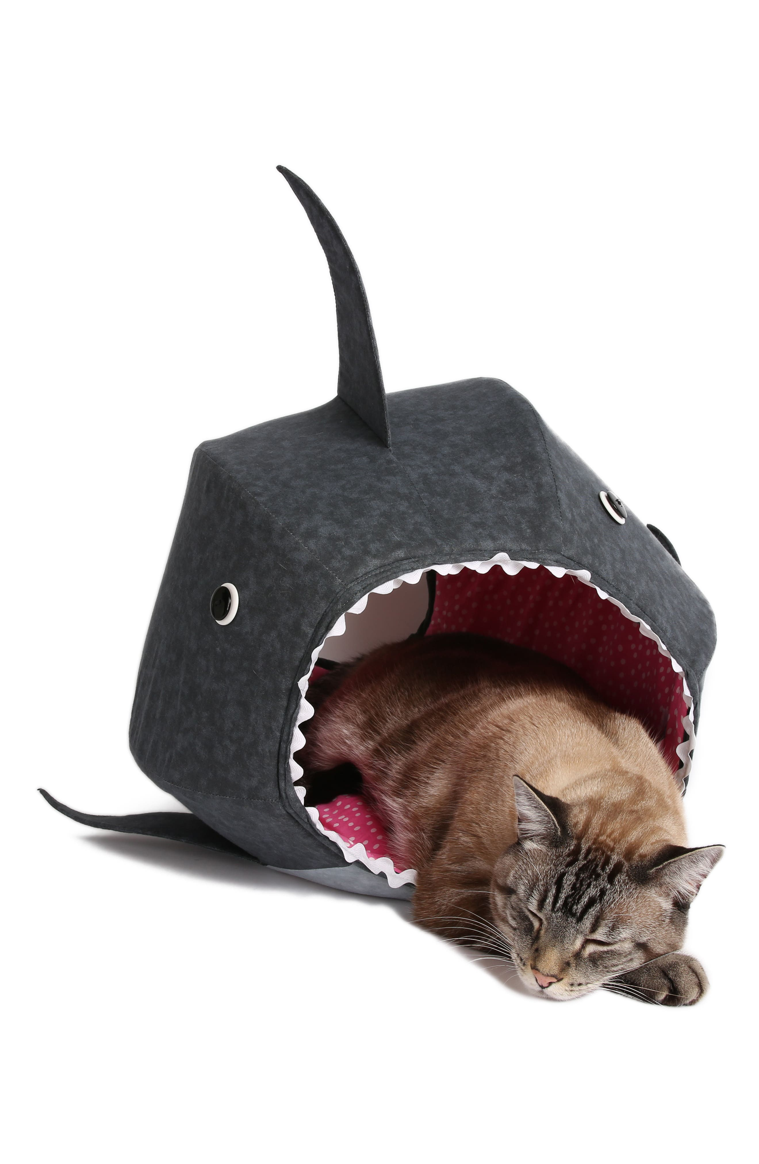 Great White Shark Cat Bed,                             Alternate thumbnail 3, color,                             020