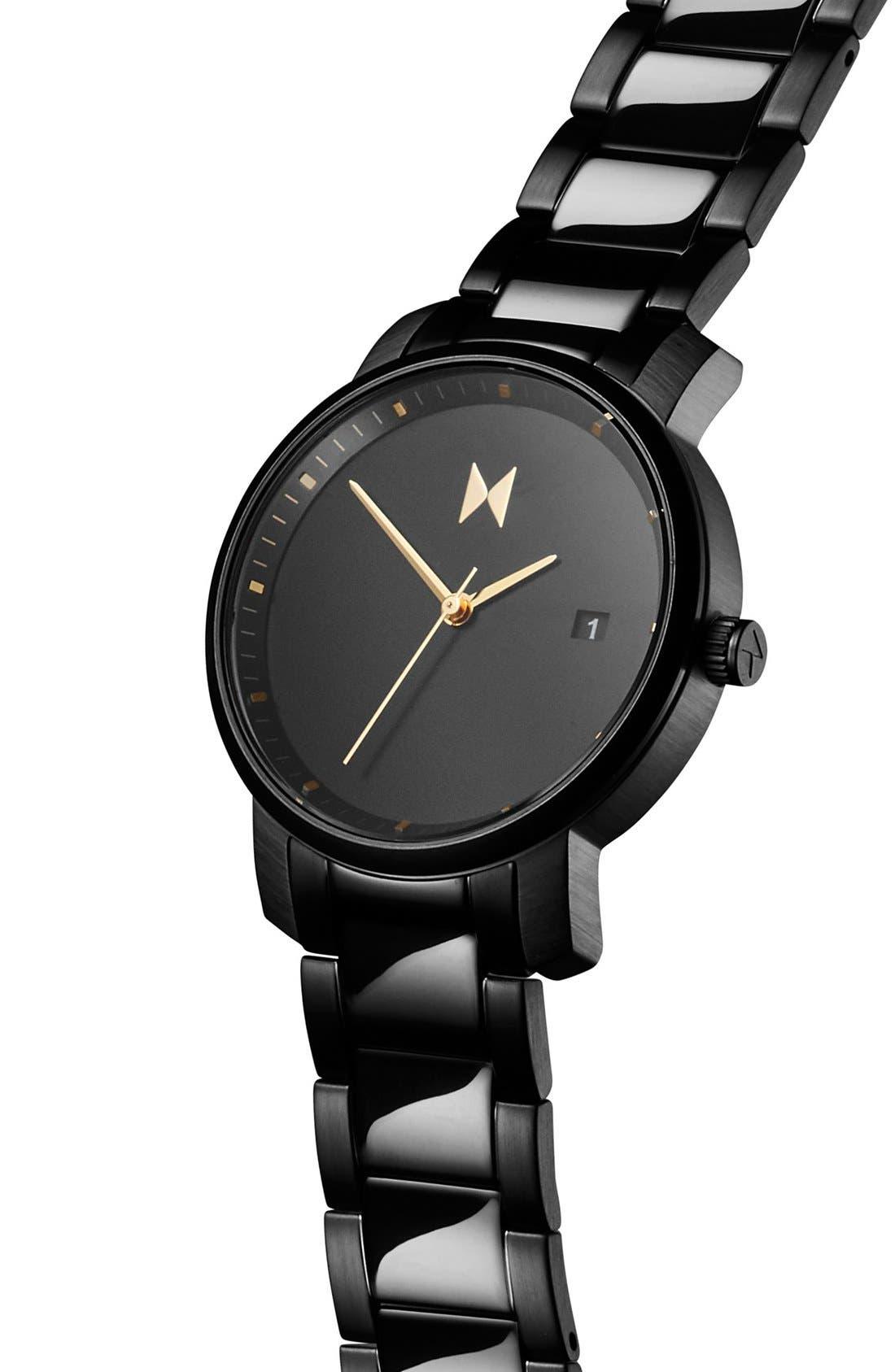 Bracelet Watch, 38mm,                             Alternate thumbnail 4, color,                             BLACK