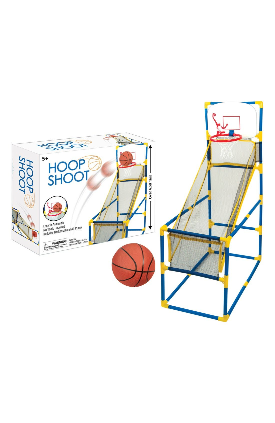 Hoop Shoot Basketball Play Set,                             Alternate thumbnail 3, color,                             400