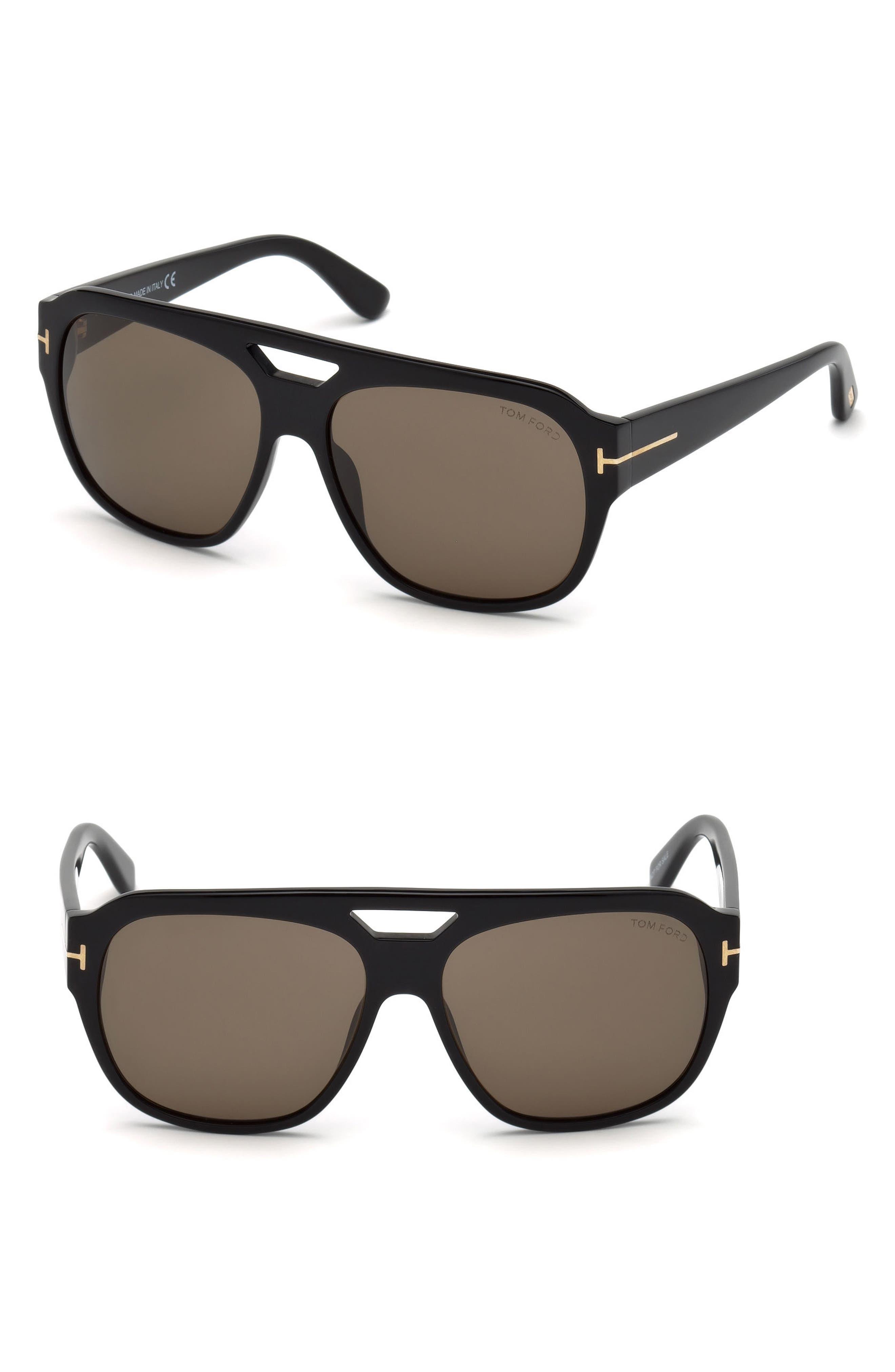 Barchardy 61mm Sunglasses,                         Main,                         color, SHINY BLACK / ROVIEX
