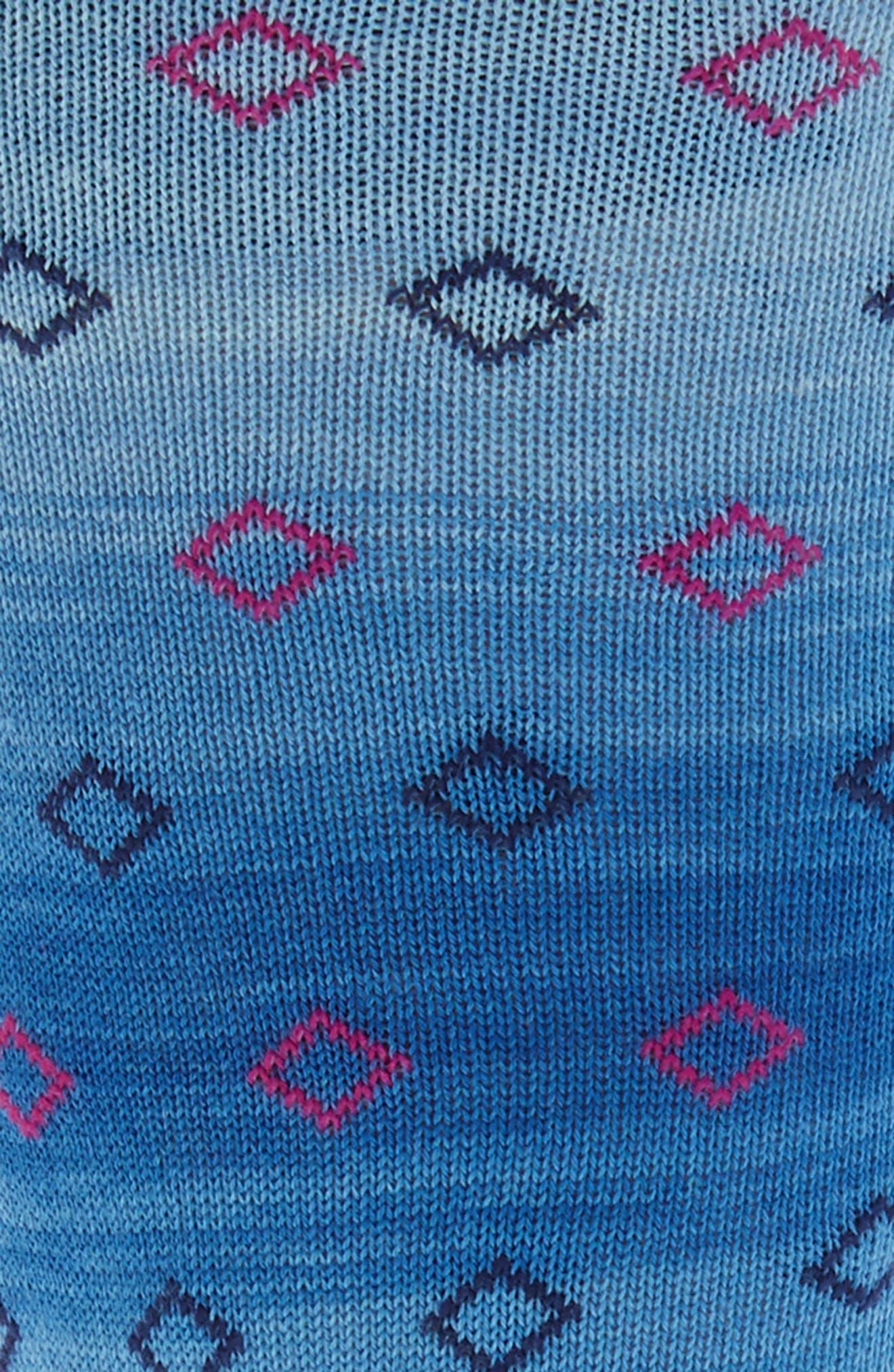 Mini Diamonds Crew Socks,                             Alternate thumbnail 2, color,