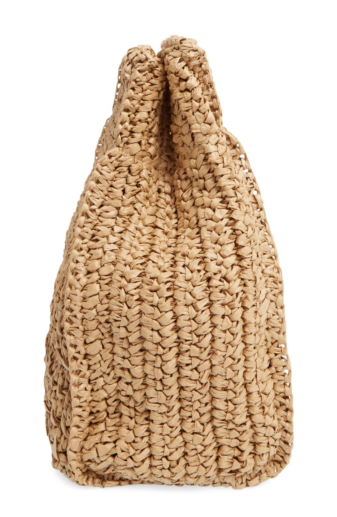 Woven Straw Tote,                             Alternate thumbnail 5, color,                             250
