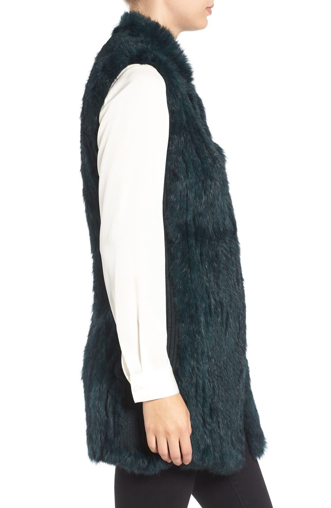 Genuine Rabbit Fur & Knit Vest,                             Alternate thumbnail 26, color,