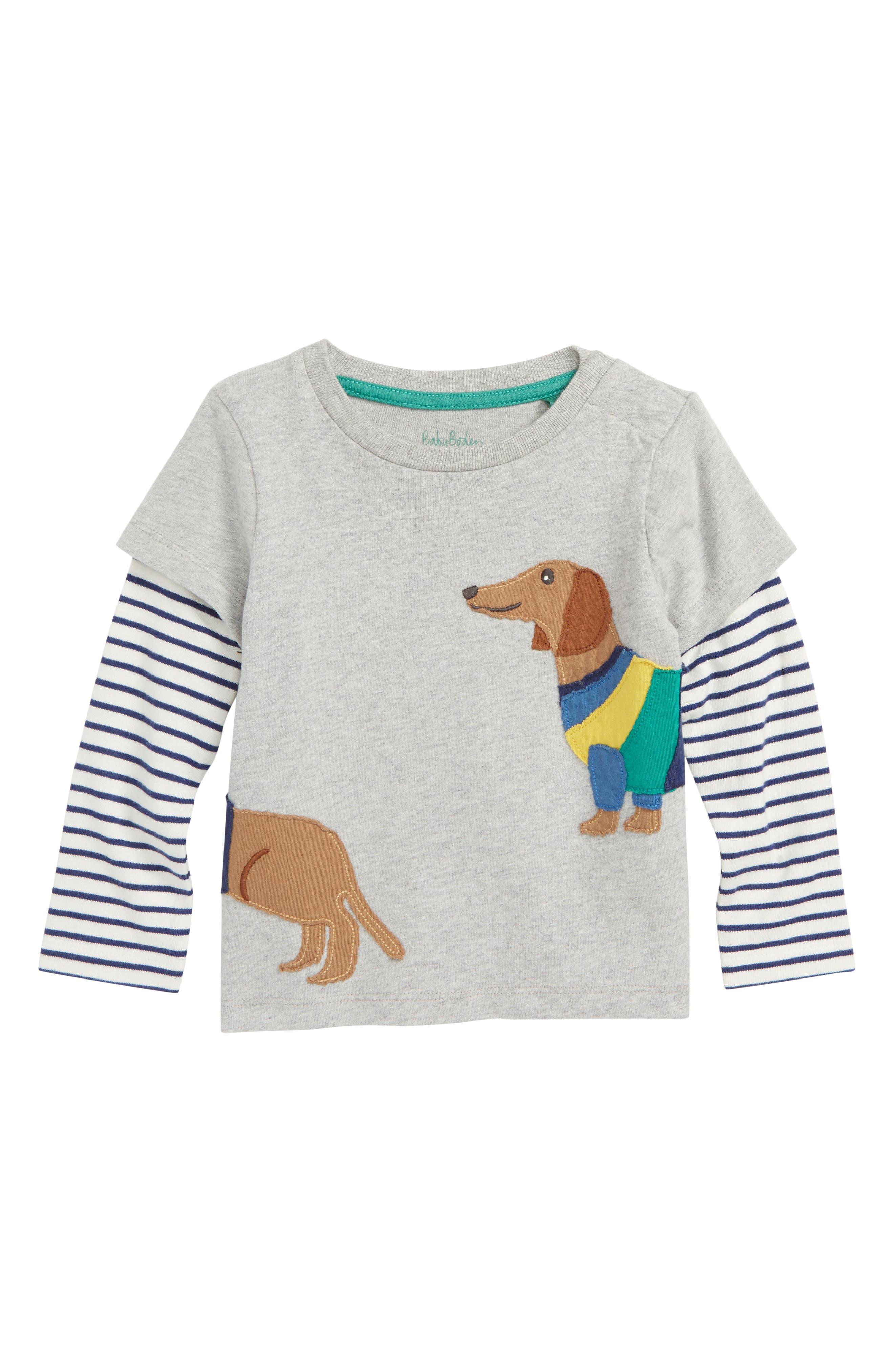 Animal Friends Layer T-Shirt,                             Main thumbnail 1, color,                             054