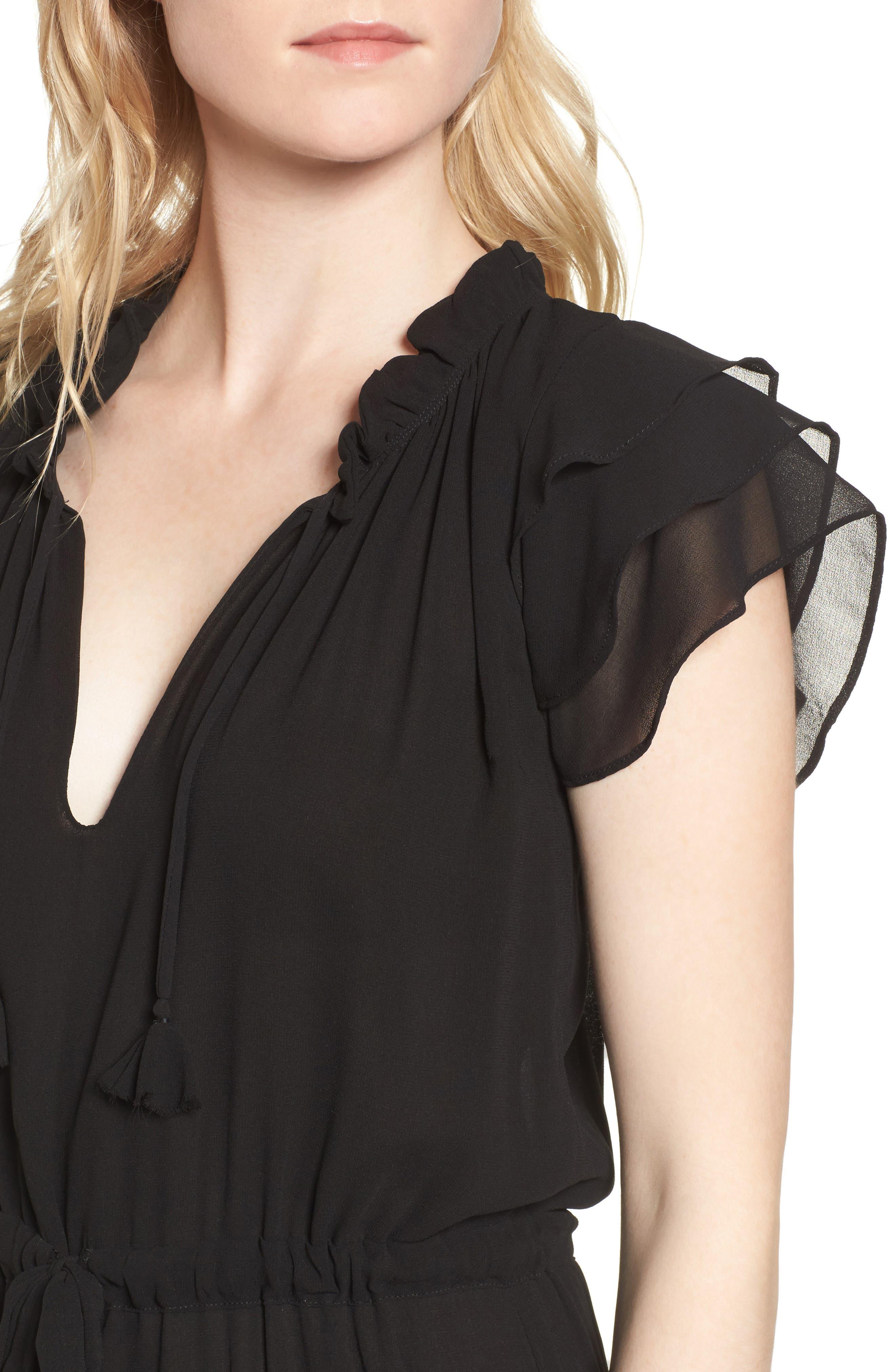 Anis Midi Dress,                             Alternate thumbnail 4, color,                             005