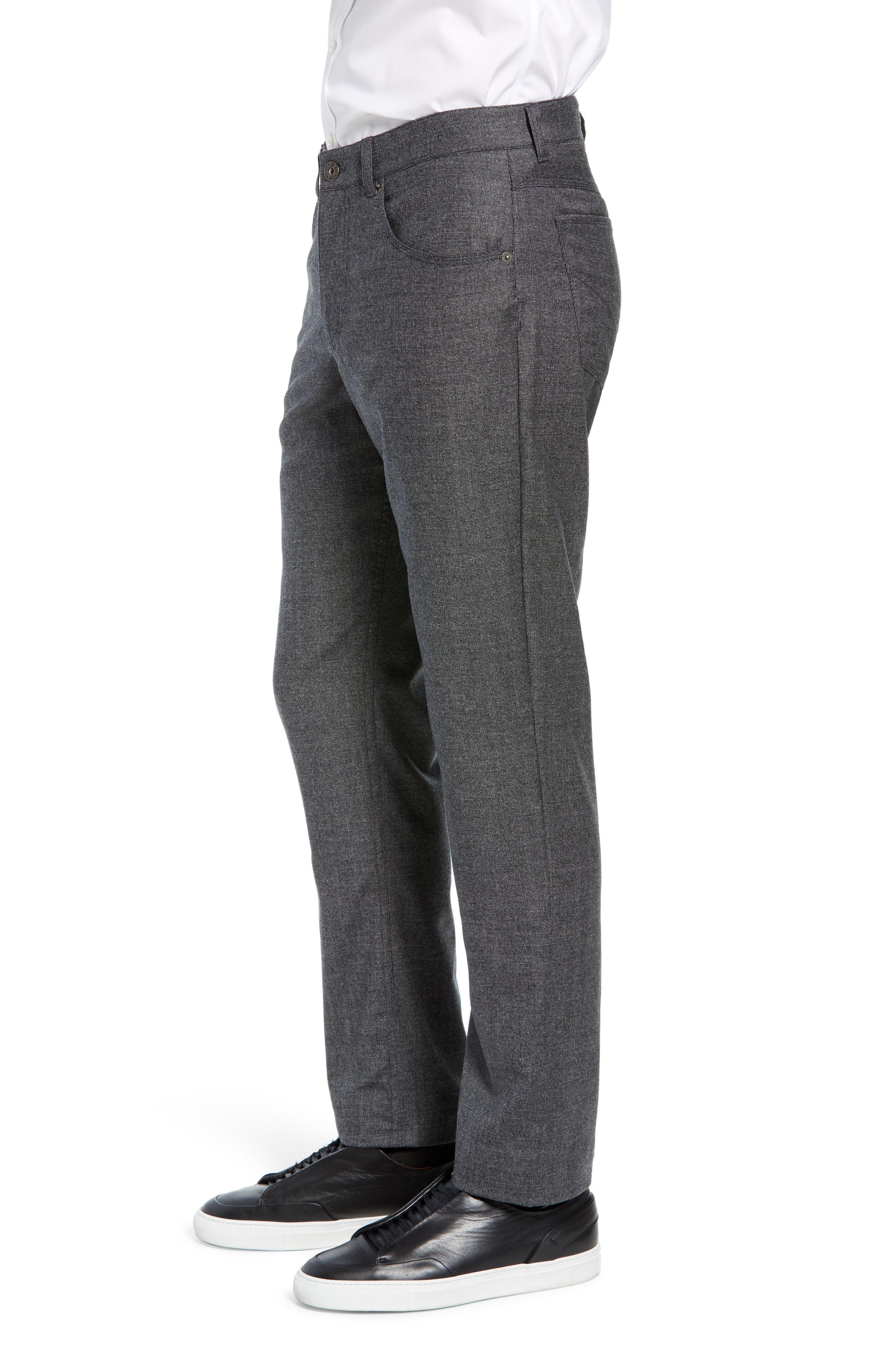 Cadiz Five Pocket Stretch Wool Trousers,                             Alternate thumbnail 3, color,                             GRAPHITE