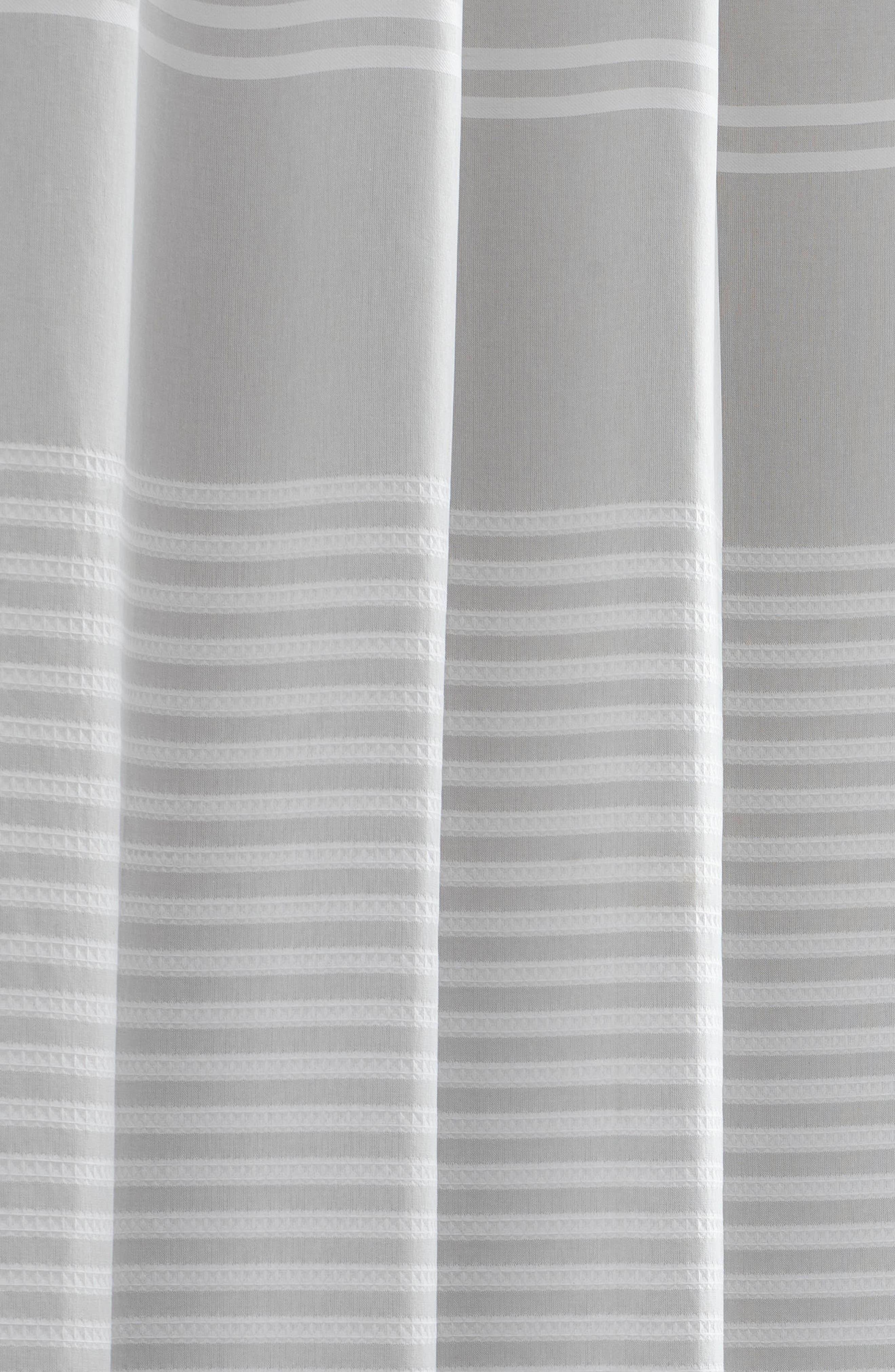 VERA WANG,                             Seersucker Stripe Shower Curtain,                             Alternate thumbnail 3, color,                             AQUARMARINE/ WHITE