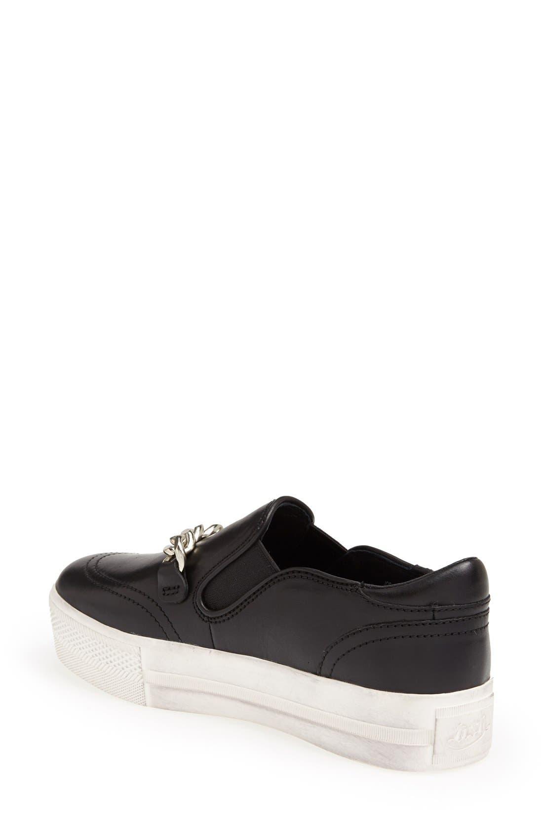 'Joe' Platform Sneaker,                             Alternate thumbnail 4, color,                             001