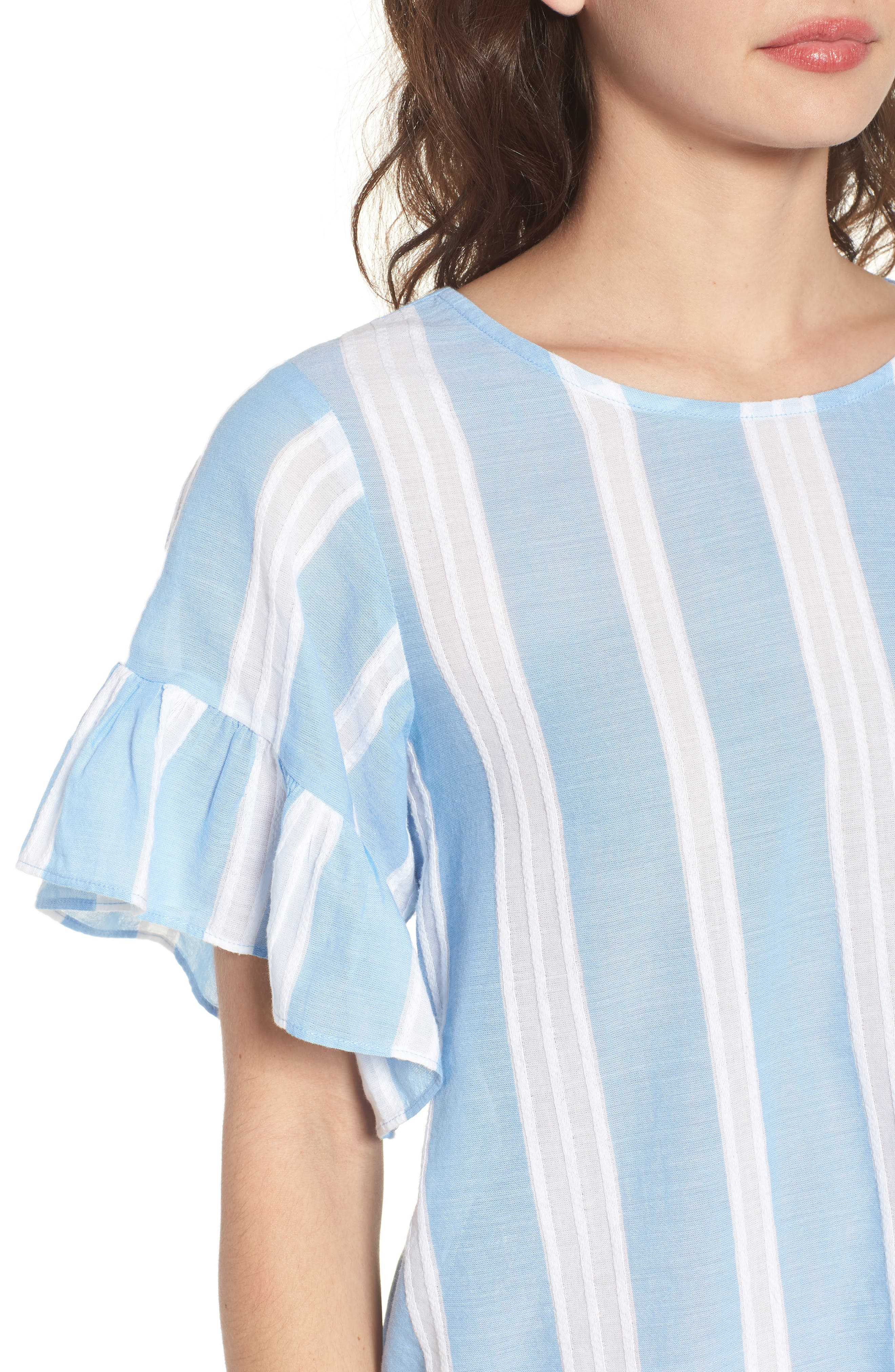 Stripe Tie Back Top,                             Alternate thumbnail 4, color,                             420