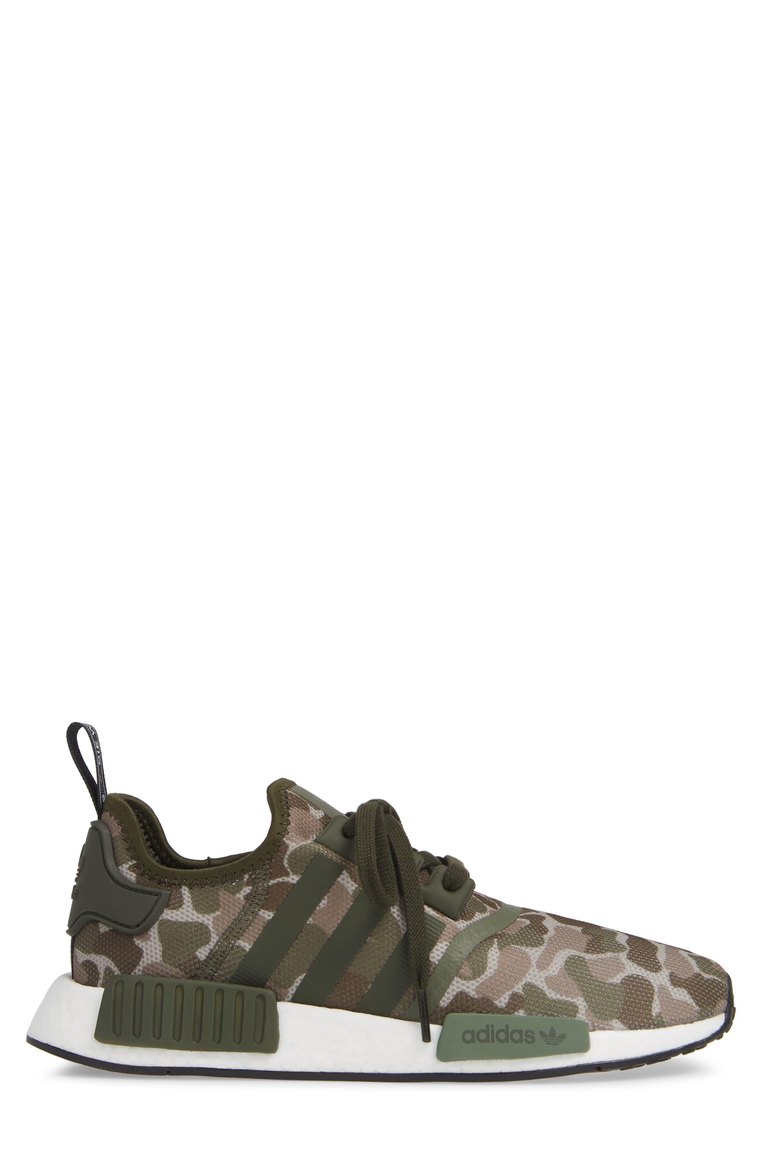 NMD R1 Camo Sneaker,                             Alternate thumbnail 3, color,                             305