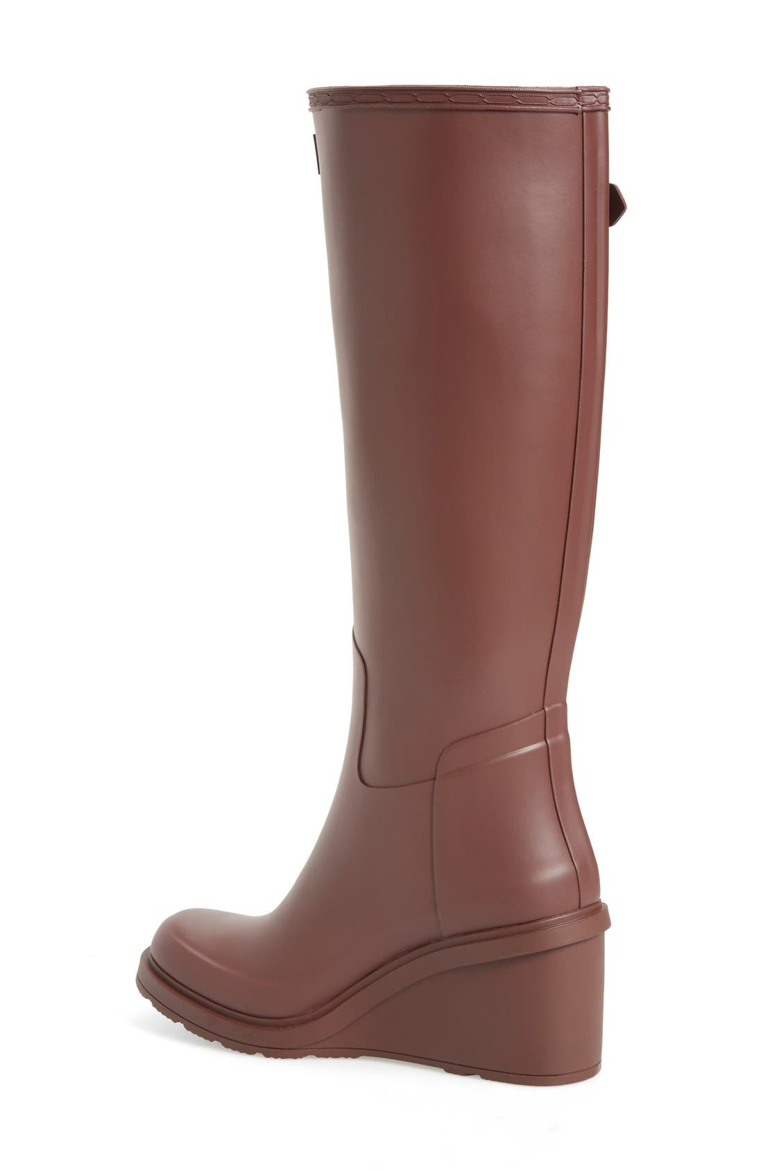 Original Refined Wedge Rain Boot,                             Alternate thumbnail 8, color,
