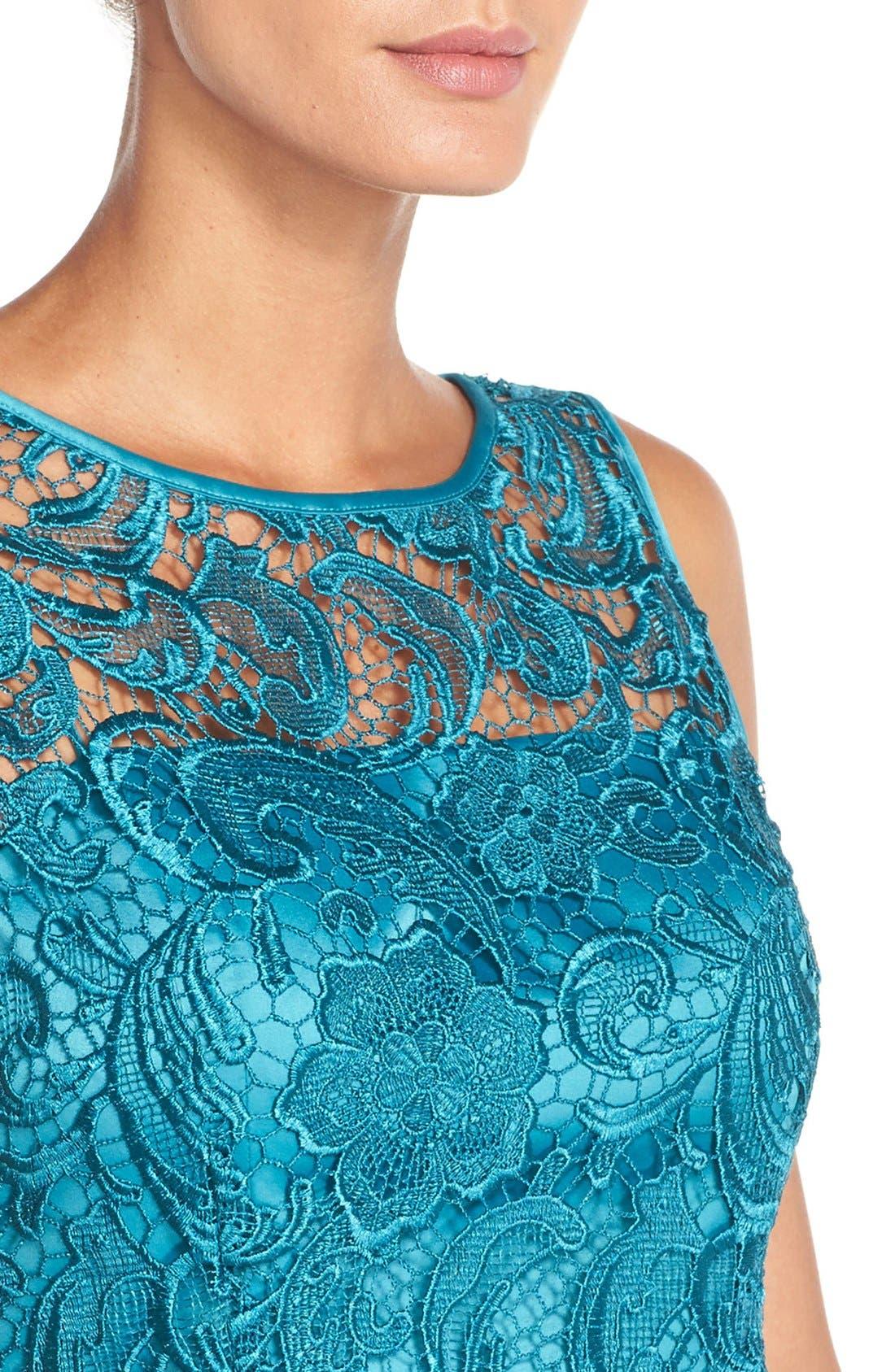 Illusion Bodice Lace Sheath Dress,                             Alternate thumbnail 46, color,