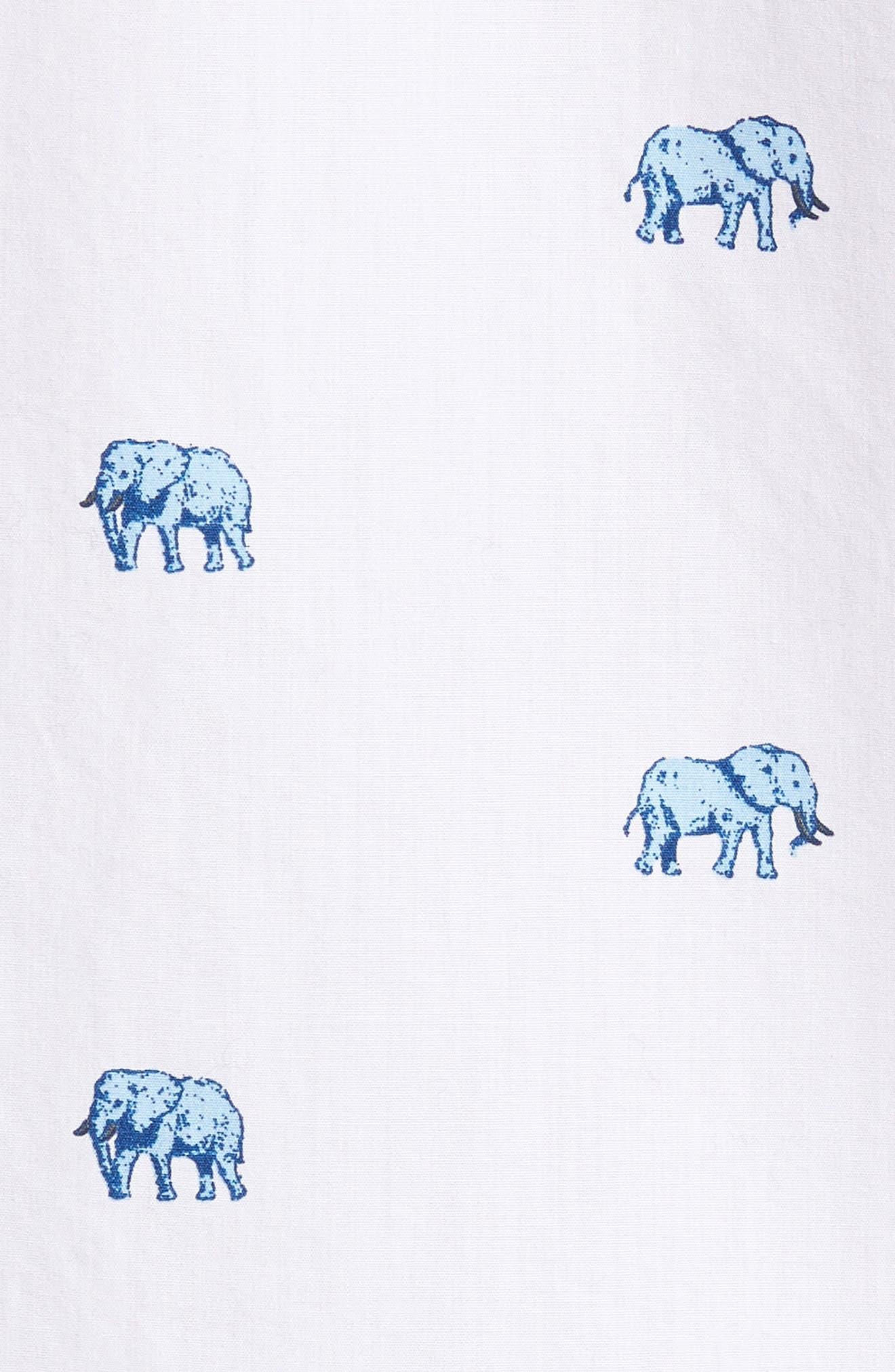 Slim Fit Washed Elephant Sport Shirt,                             Alternate thumbnail 5, color,                             100