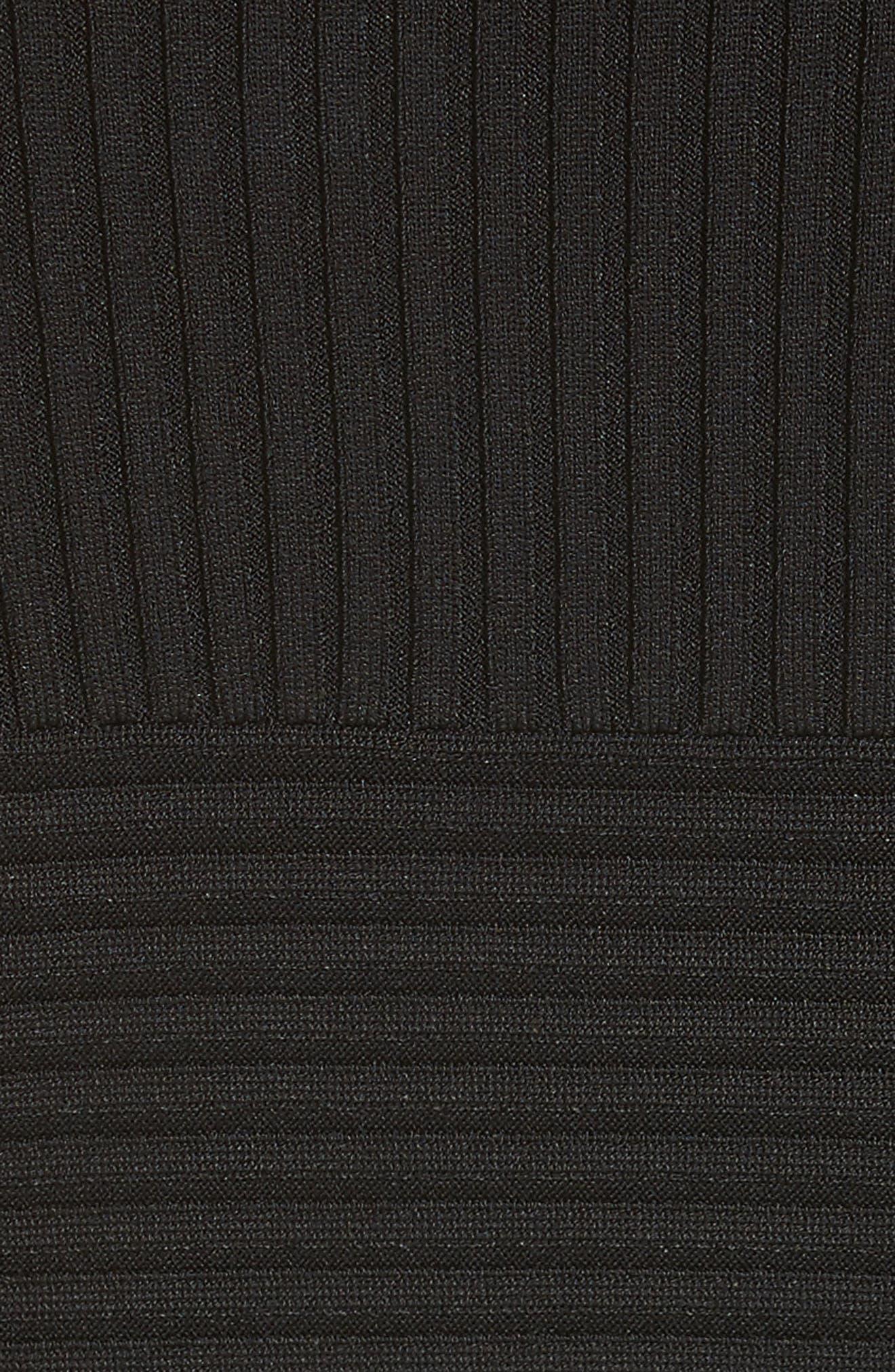 Rocky Rib Knit Bodysuit,                             Alternate thumbnail 5, color,                             001