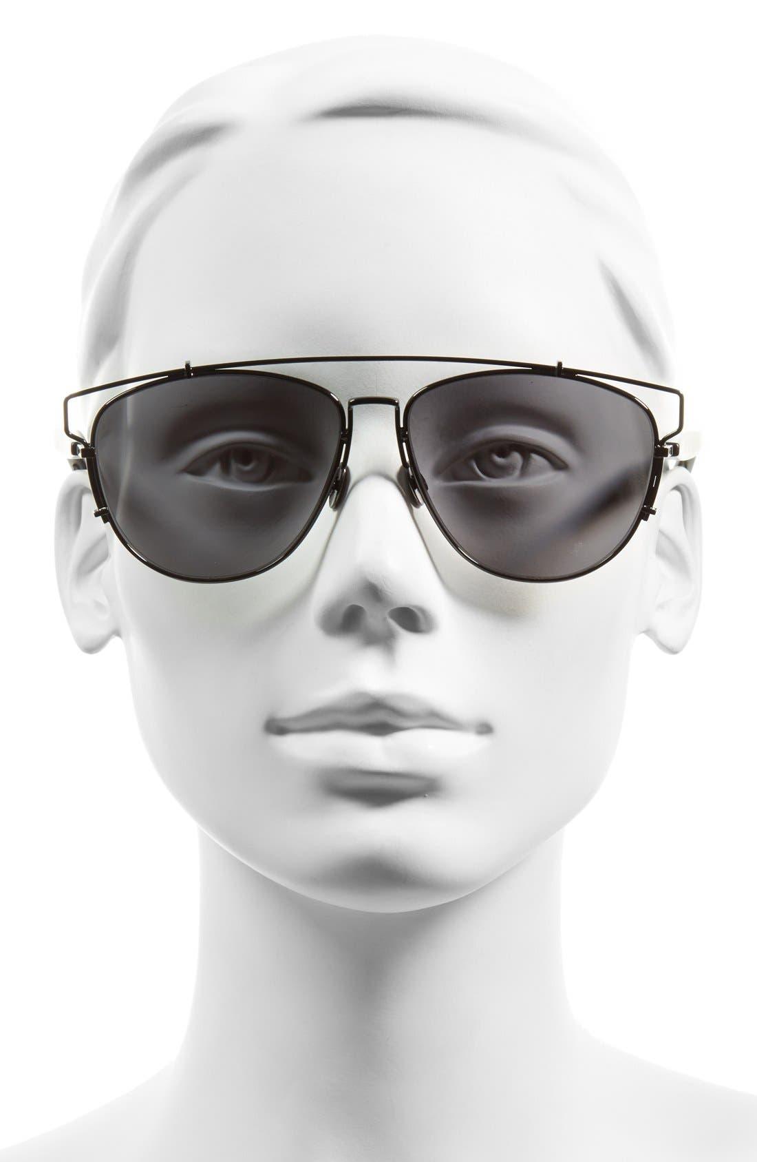 Technologic 57mm Brow Bar Sunglasses,                             Alternate thumbnail 18, color,