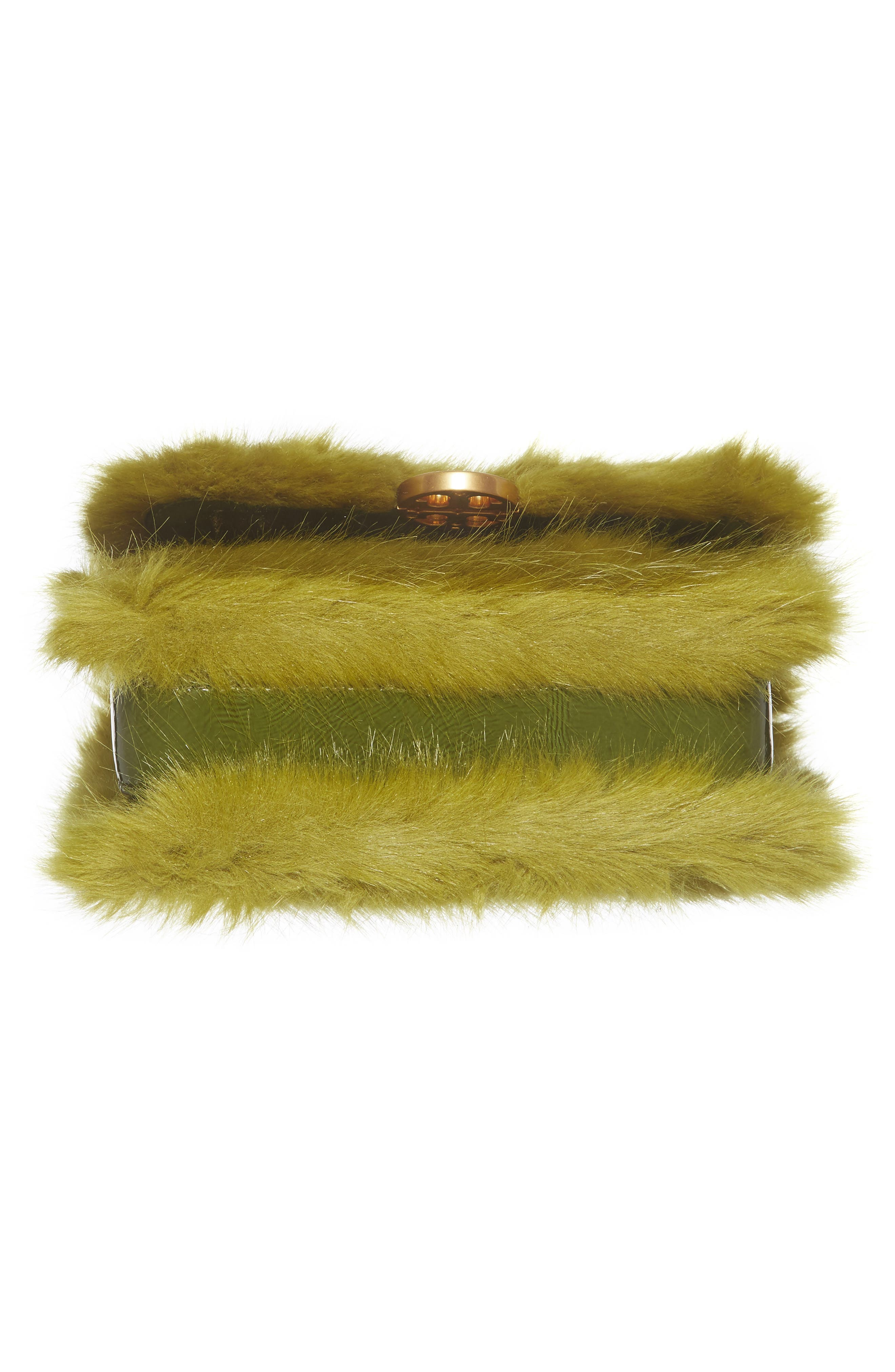 Mini Chelsea Faux Fur Convertible Crossbody Bag,                             Alternate thumbnail 6, color,                             320