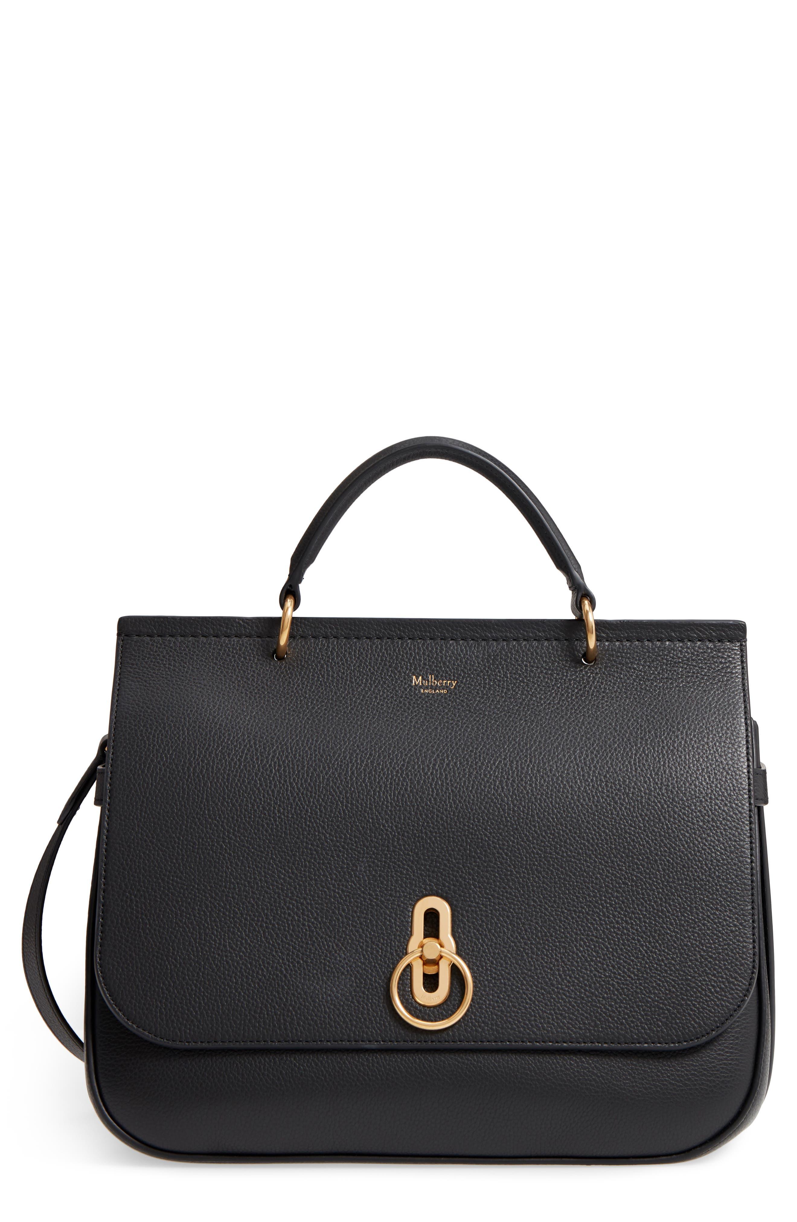 Amberley Leather Shoulder Bag - Black