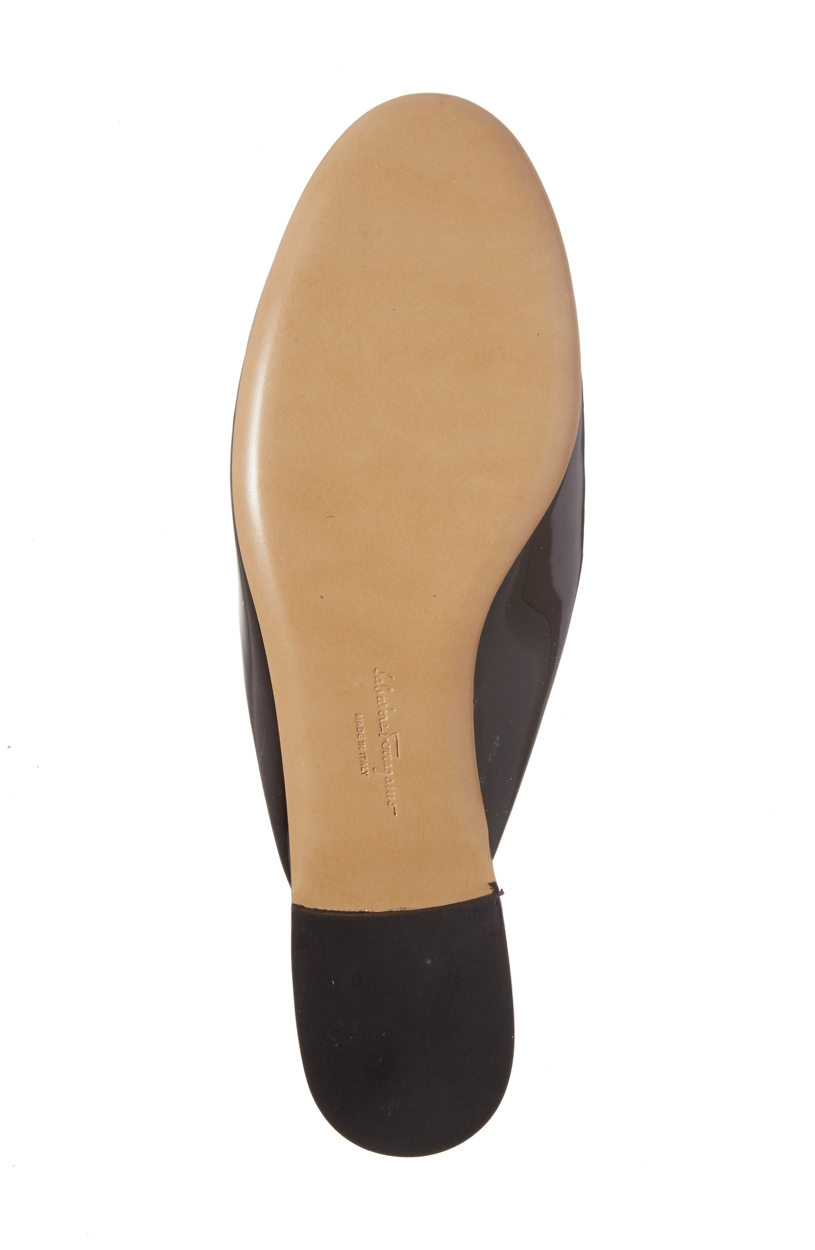 Rounded Toe Bow Mule,                             Alternate thumbnail 6, color,                             001