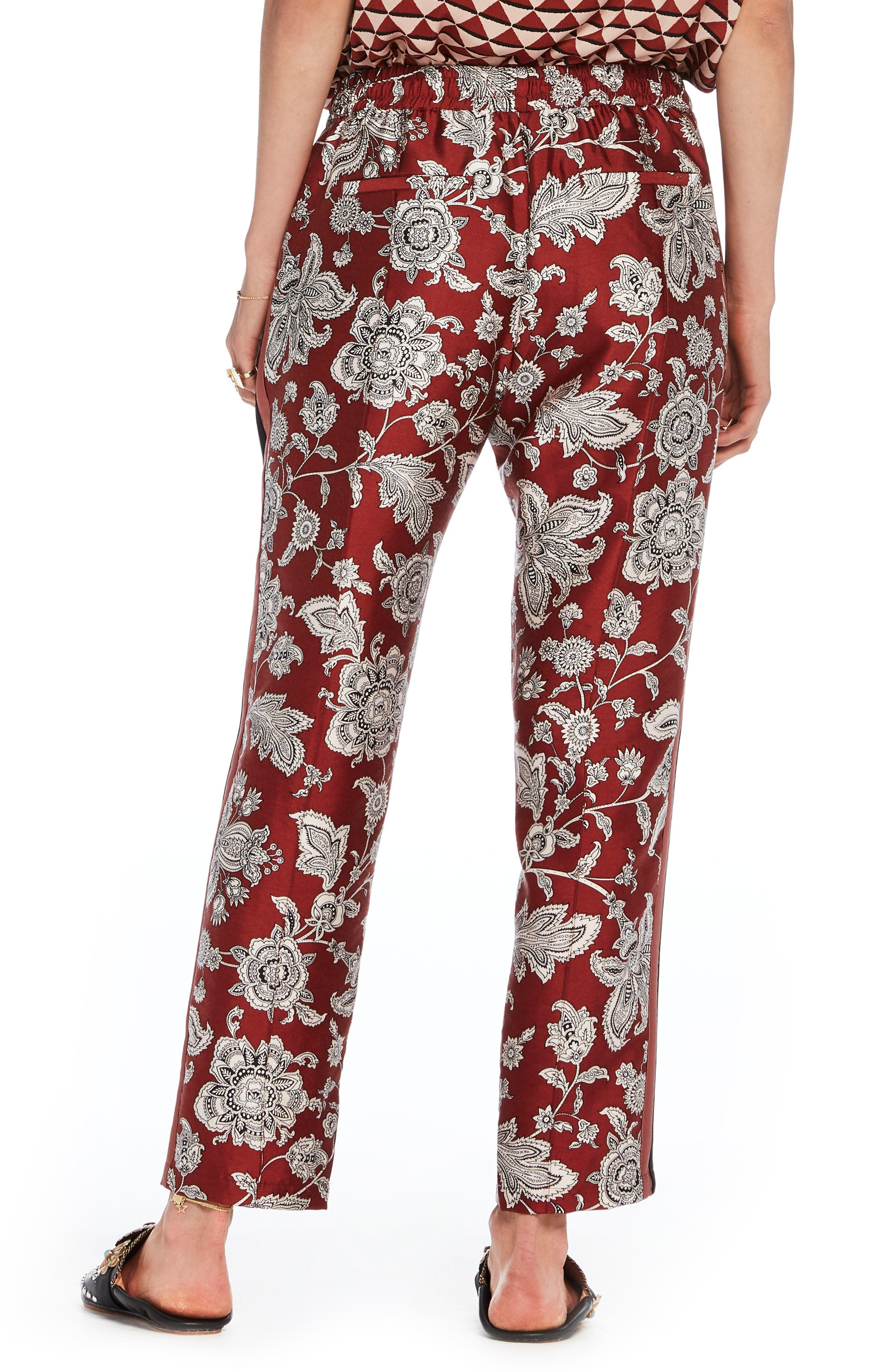 Print Satin Pants,                             Alternate thumbnail 2, color,