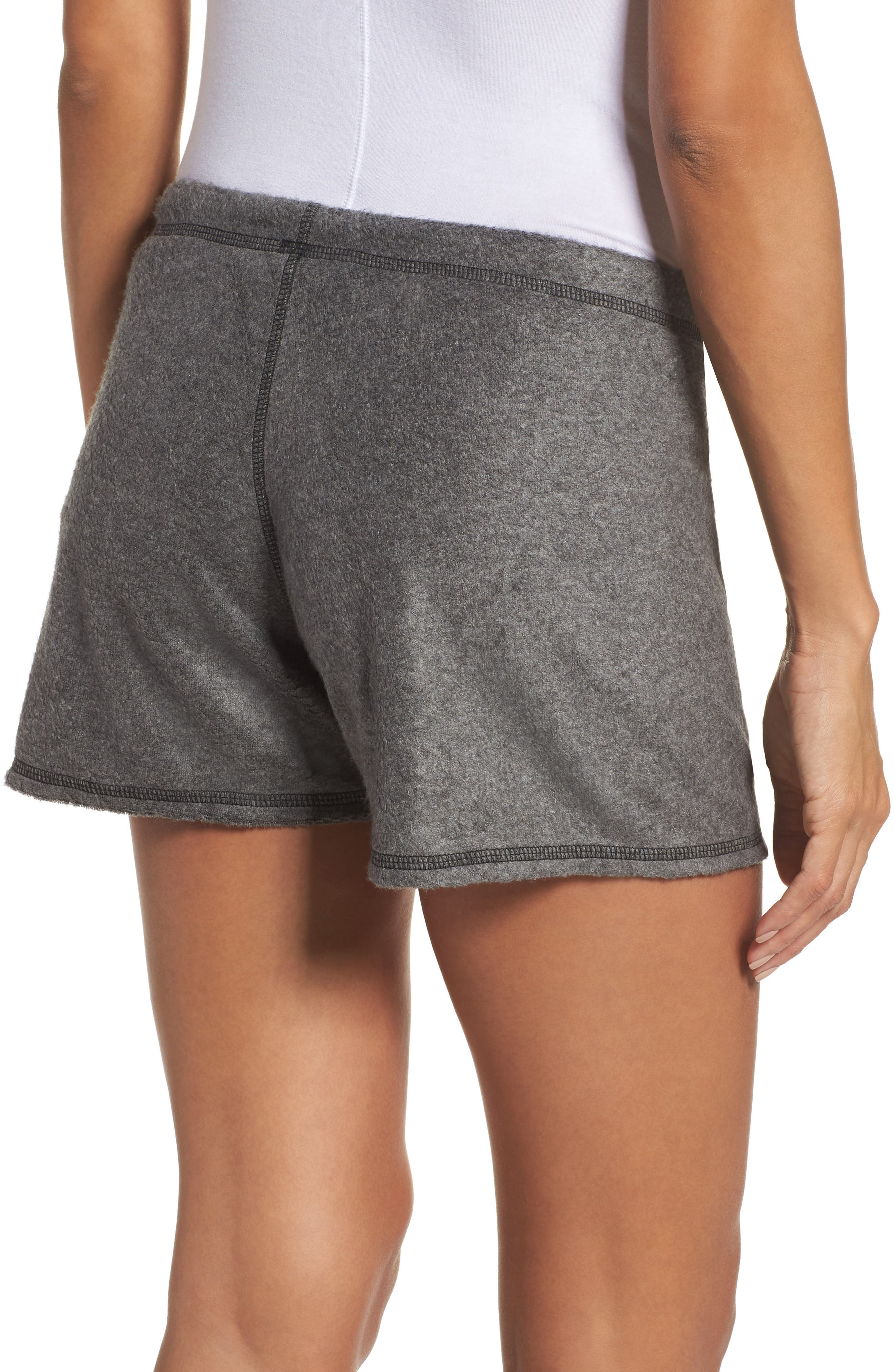 Traci Fleece Lounge Shorts,                             Alternate thumbnail 2, color,                             020