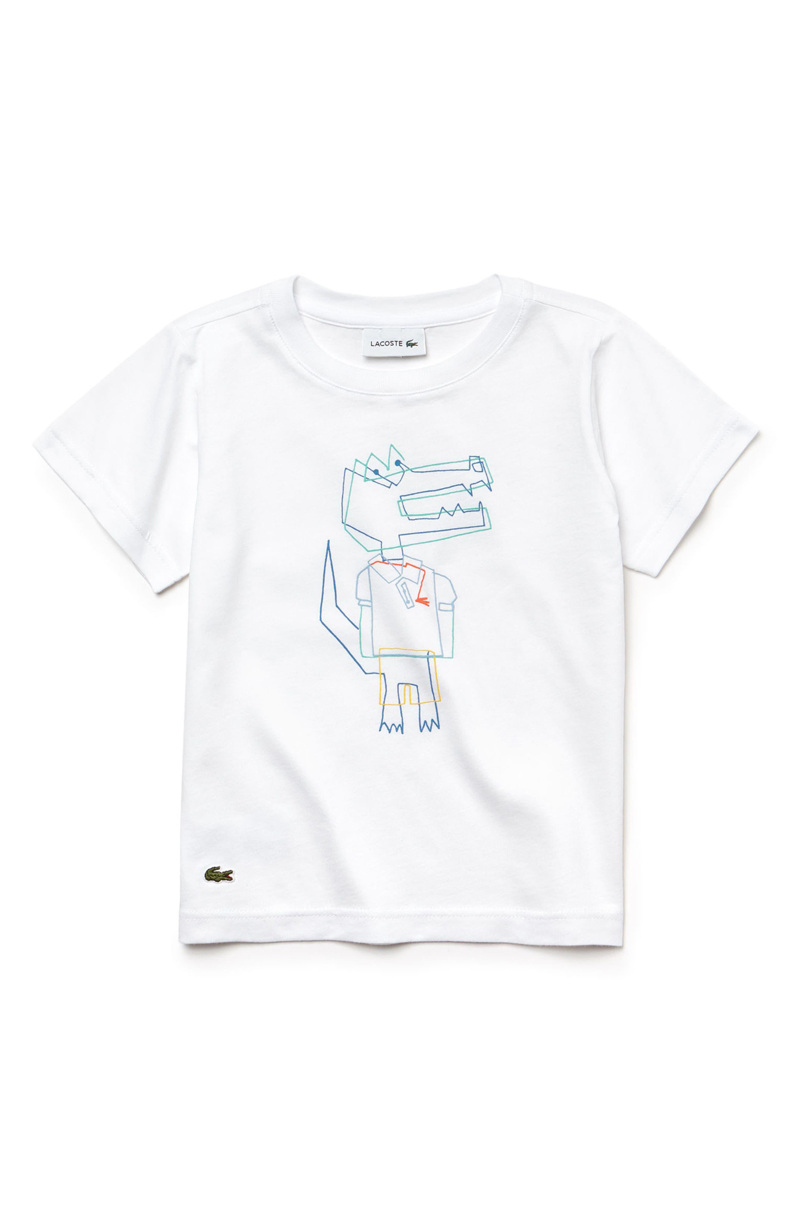 LACOSTE,                             Crocoline Graphic T-Shirt,                             Main thumbnail 1, color,                             174