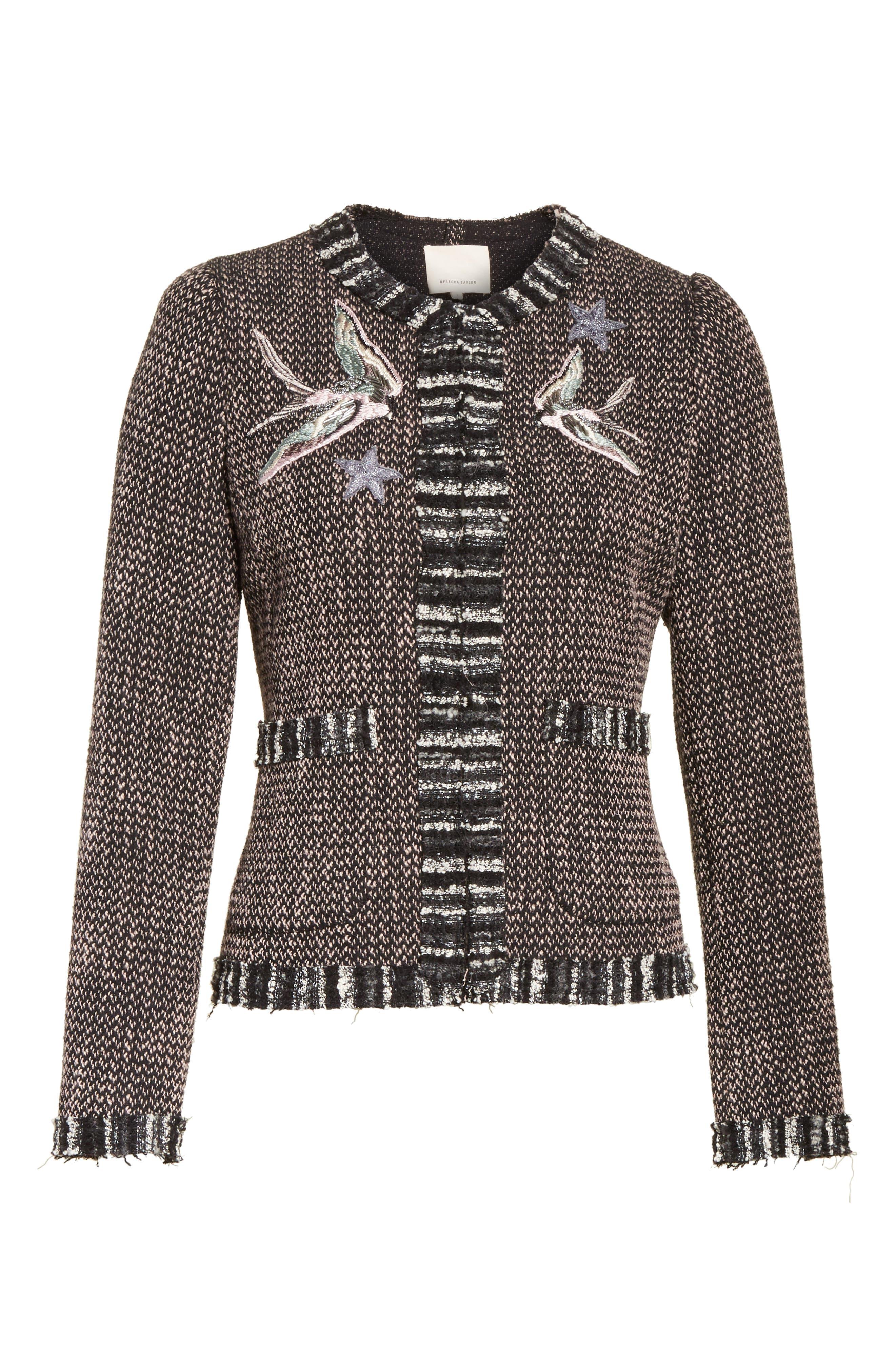 Embellished Multi Tweed Jacket,                             Alternate thumbnail 5, color,                             014