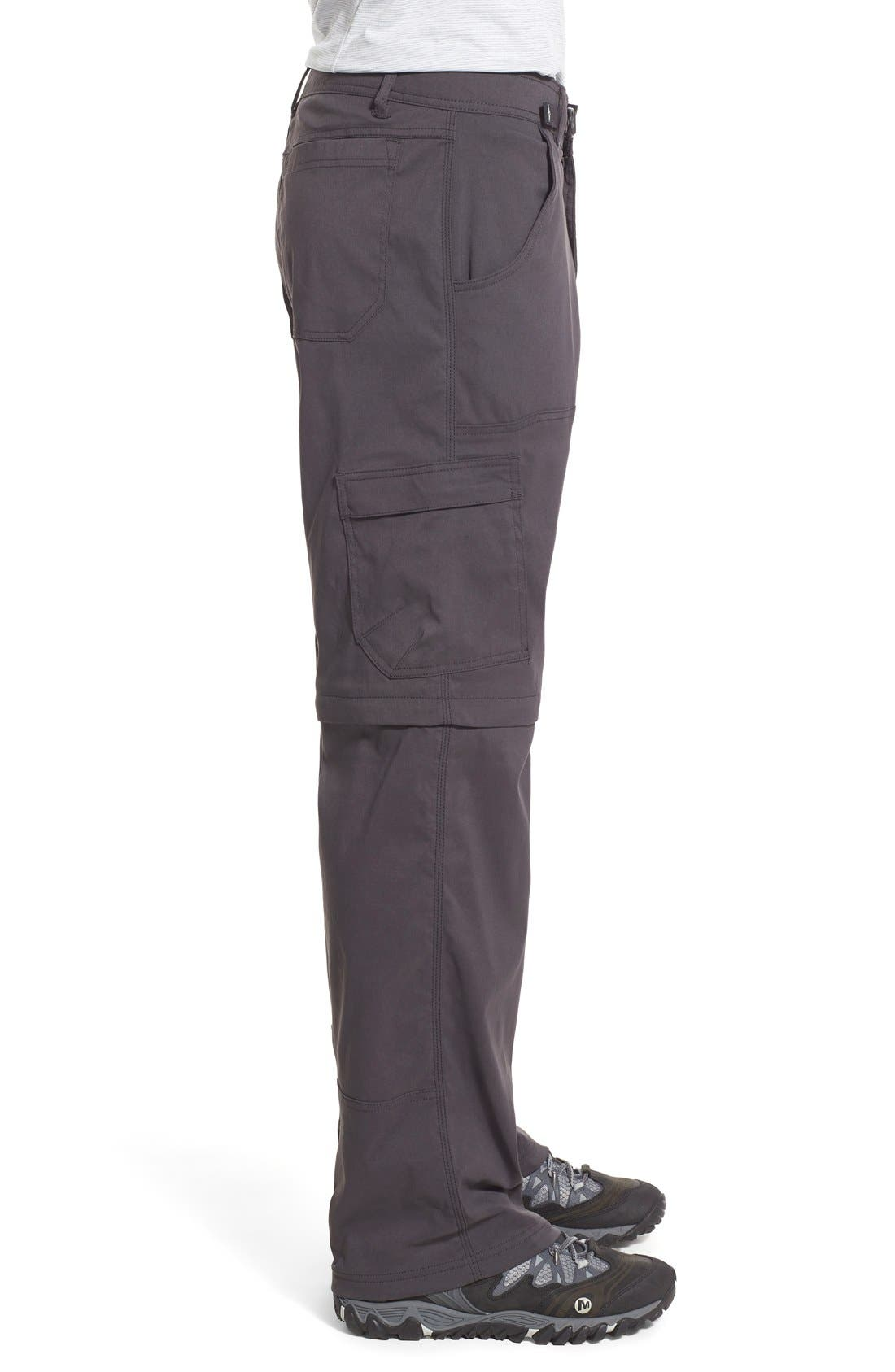Zion Stretch Convertible Cargo Hiking Pants,                             Alternate thumbnail 7, color,                             010