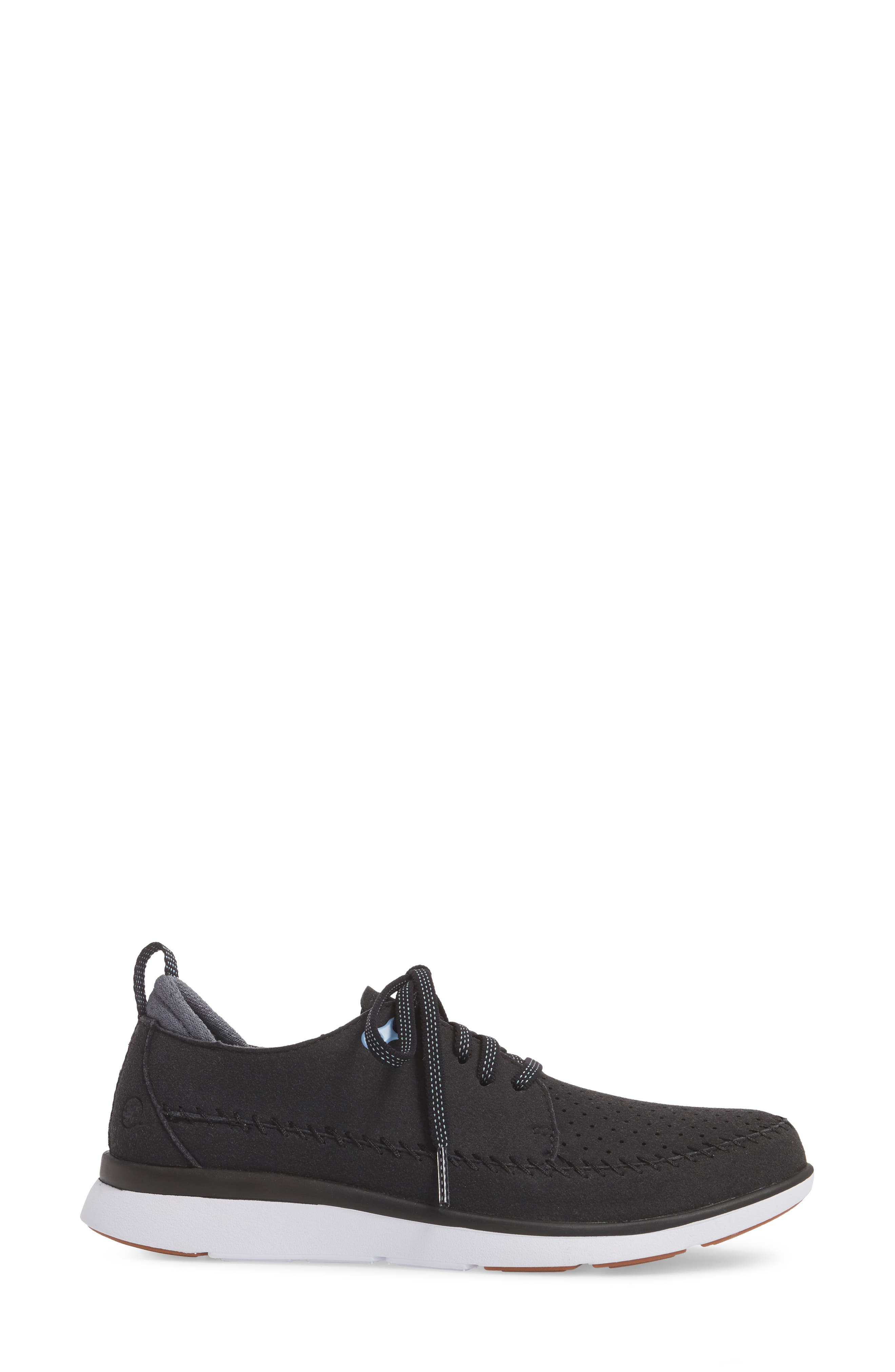 Addy Sneaker,                             Alternate thumbnail 3, color,                             BLACK FABRIC