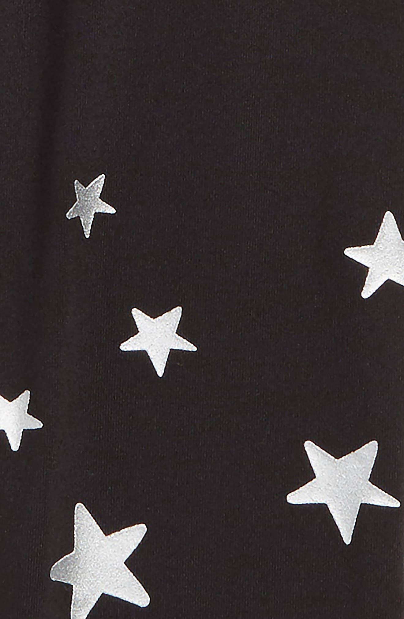 Star Leggings,                             Alternate thumbnail 2, color,                             BLACK